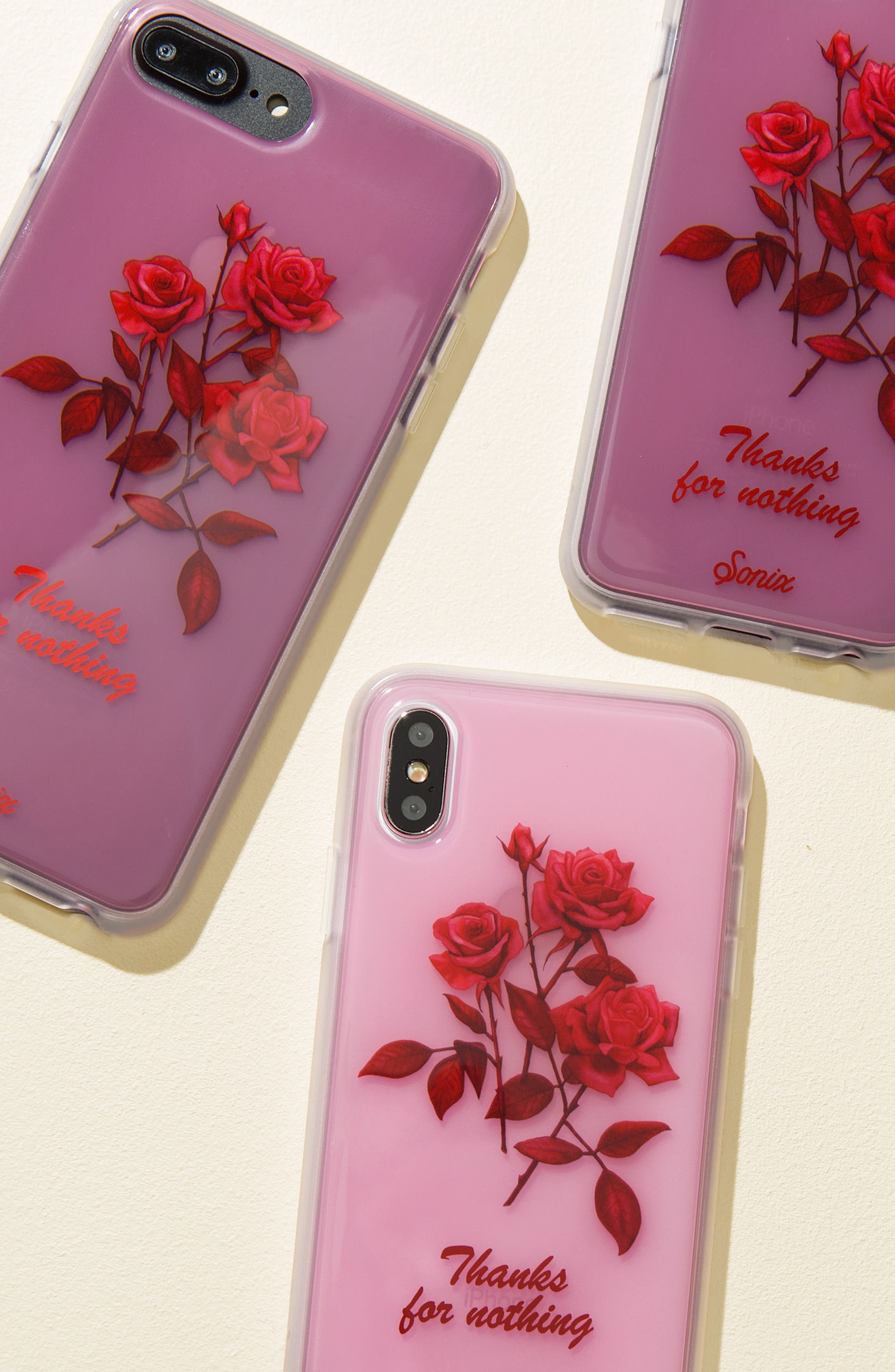 Thanks for Nothing iPhone 6/6s/7/8 & 6/6s/7/8 Plus Case,                             Alternate thumbnail 2, color,                             Pink/ Red
