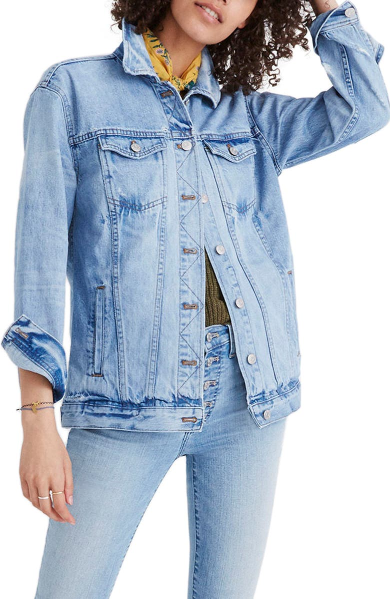 Distressed Oversize Jean Jacket