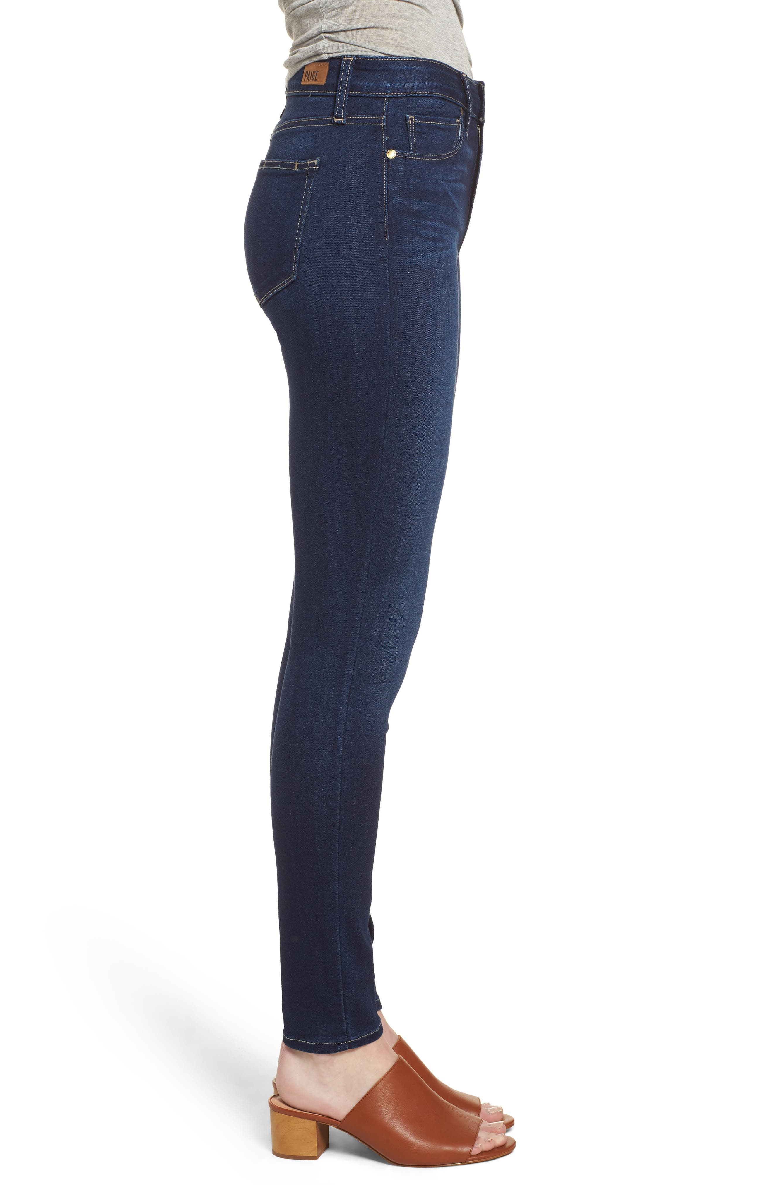 Hoxton High Waist Ankle Skinny Jeans,                             Alternate thumbnail 3, color,                             Calani