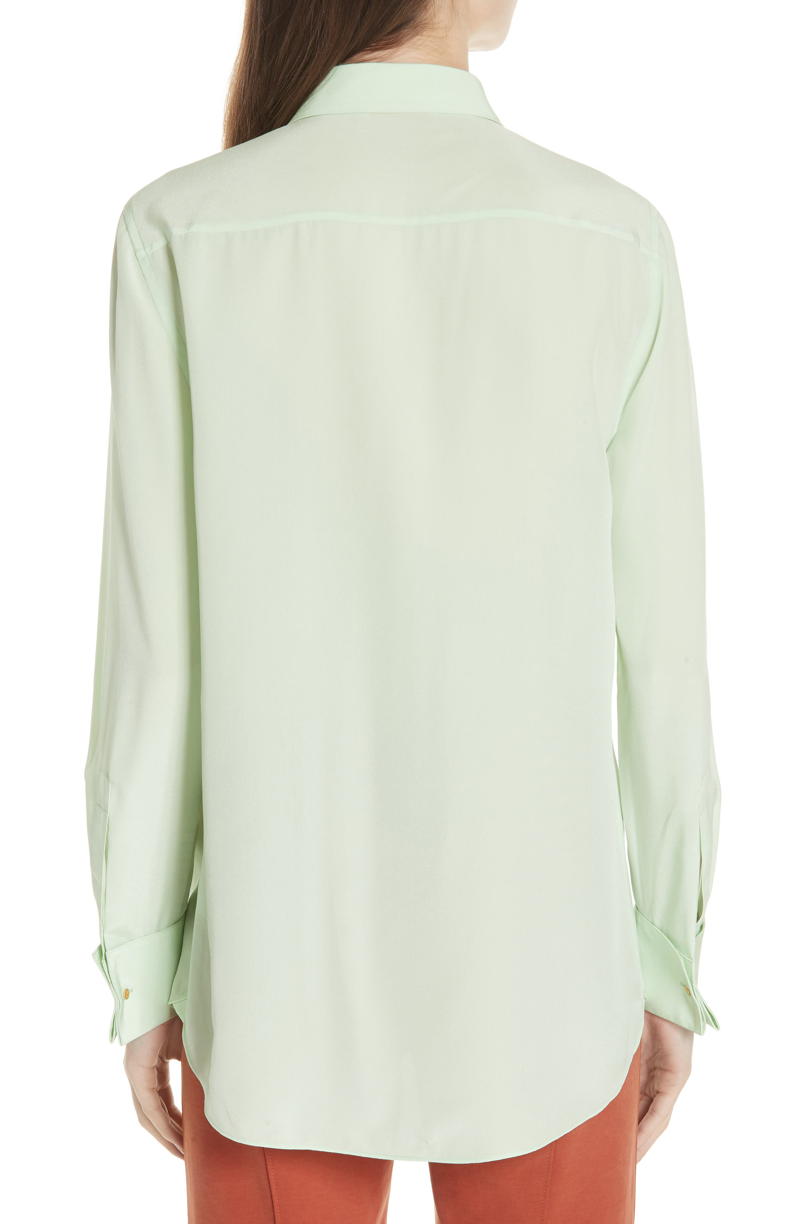 Janet Silk Top,                             Alternate thumbnail 2, color,                             Crushed Mint