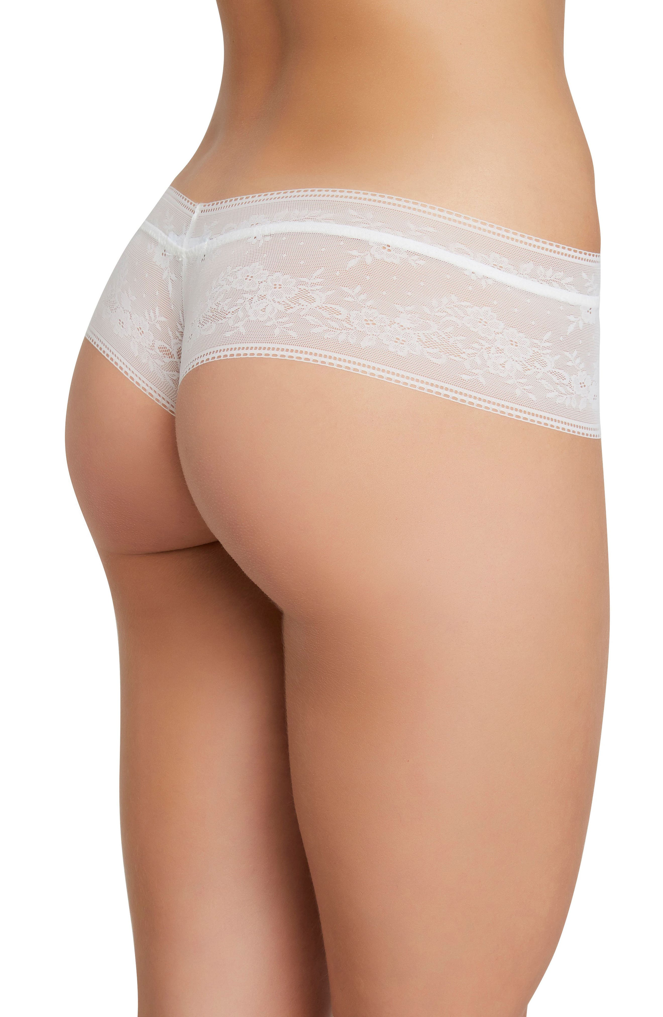 The Classic Lace Thong,                             Alternate thumbnail 2, color,                             Ivory