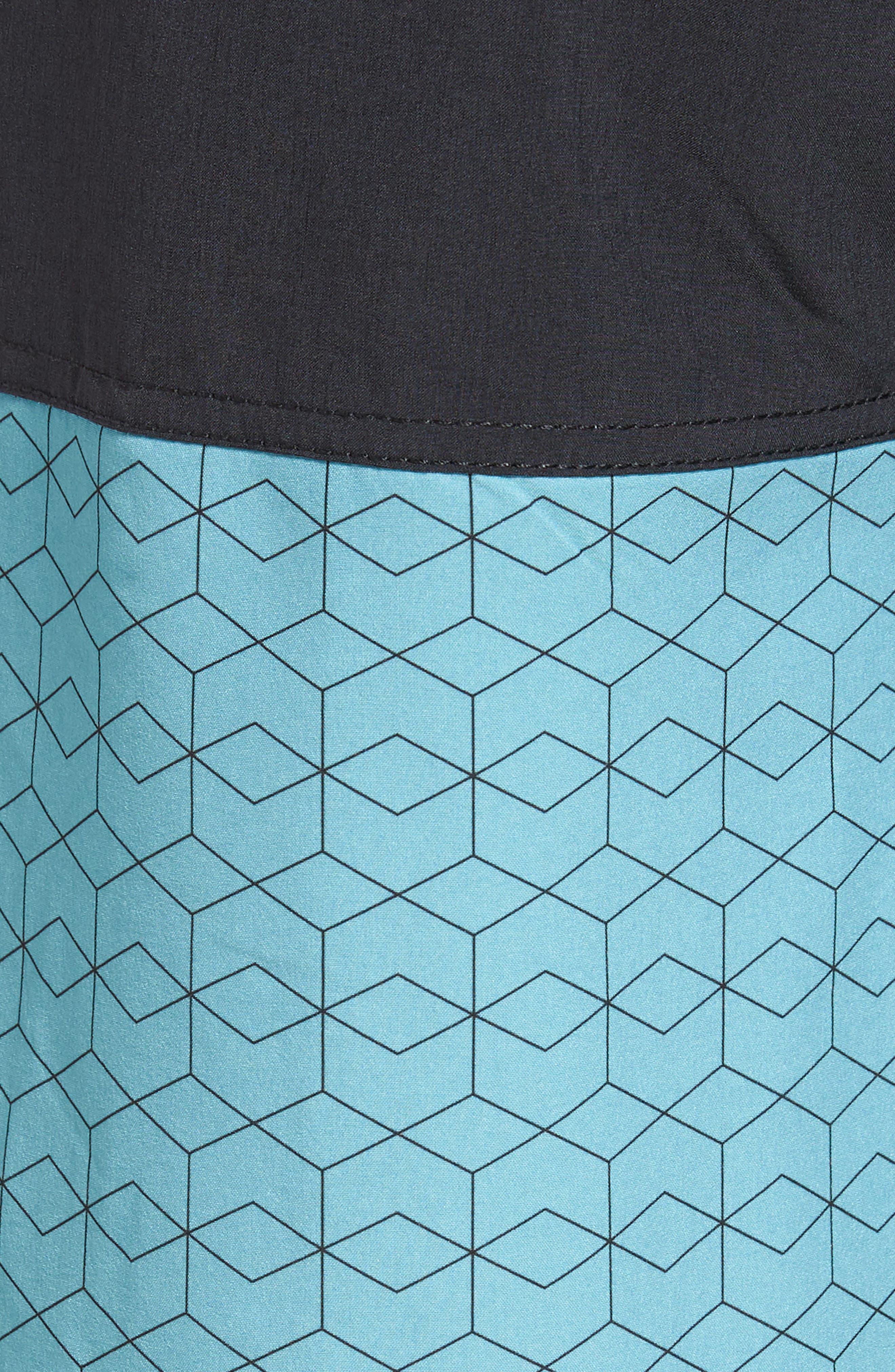 Cruise Hybrid Board Shorts,                             Alternate thumbnail 5, color,                             Glacier Hex Block