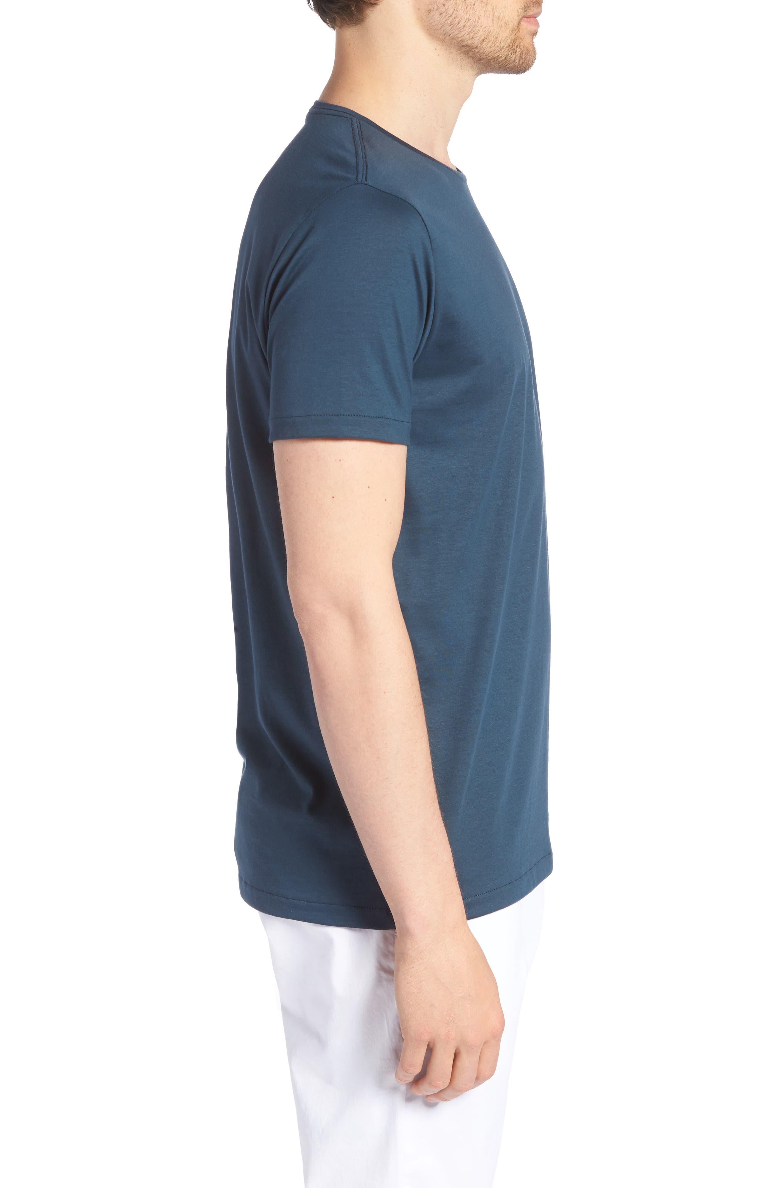 Refined Slim Fit T-Shirt,                             Alternate thumbnail 3, color,                             Lake Front