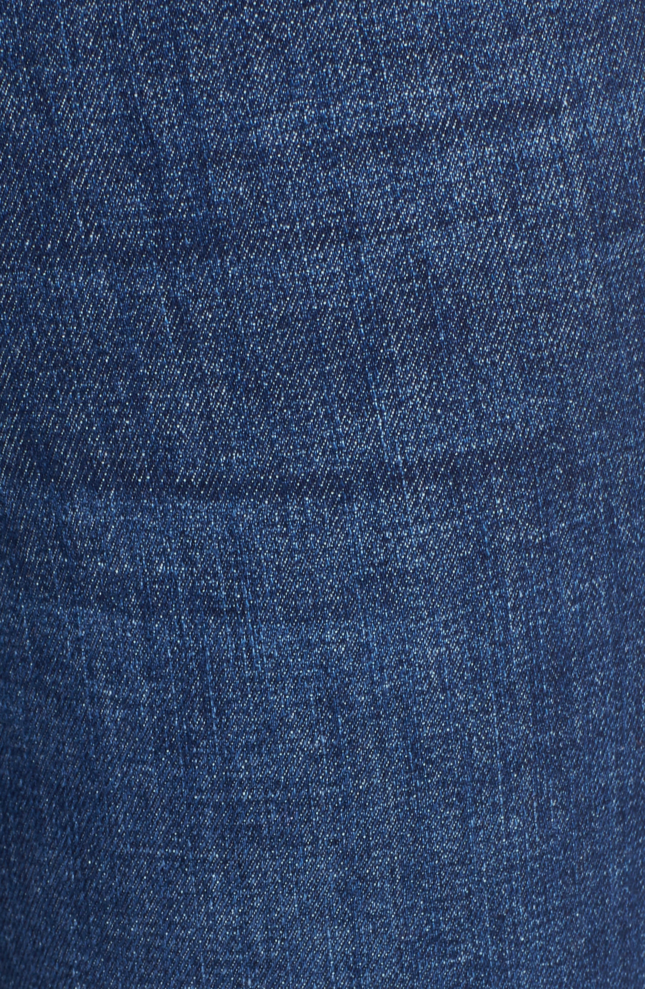 'The Insider' Crop Step Fray Jeans,                             Alternate thumbnail 5, color,                             Crushing It