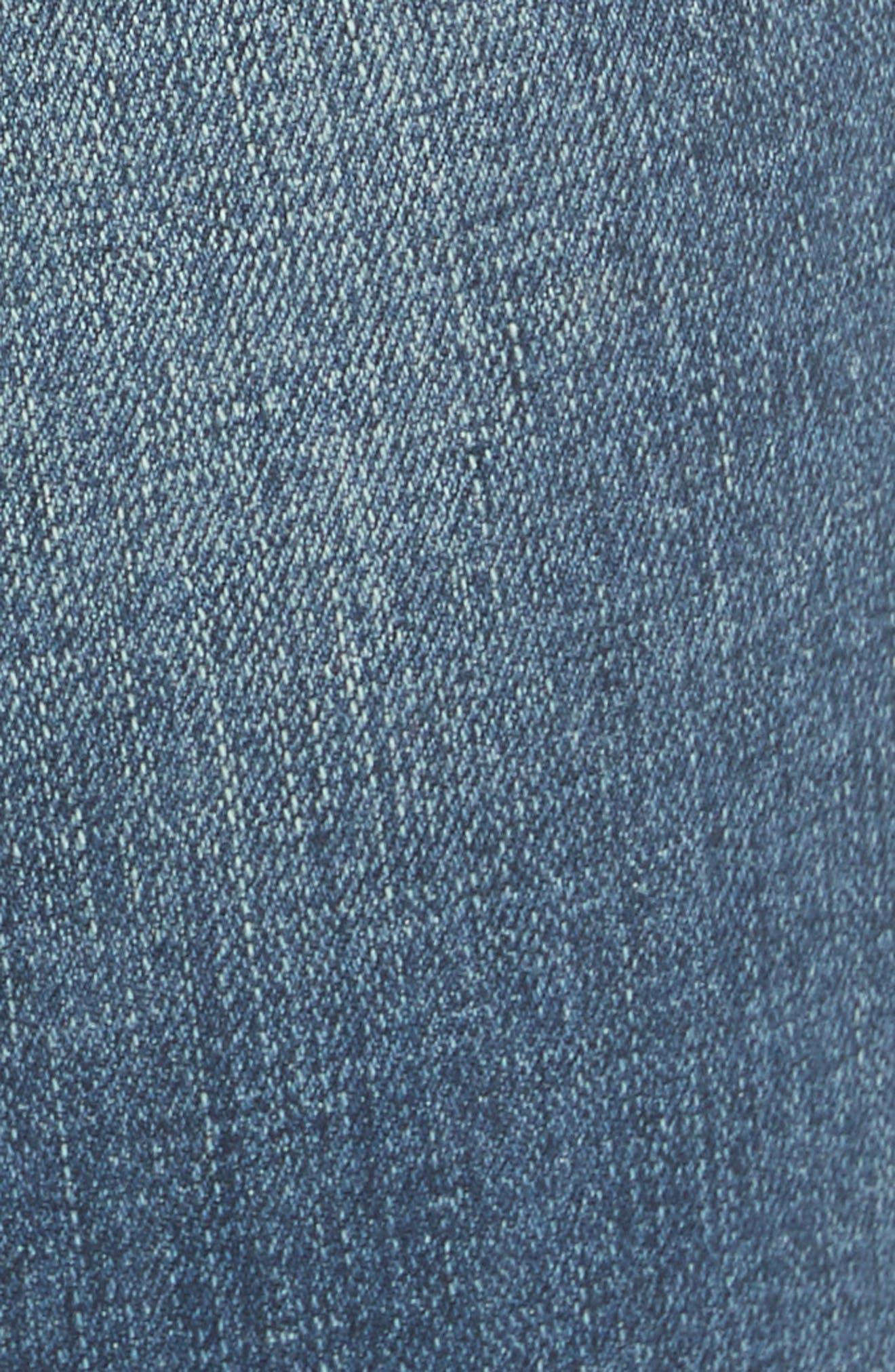 Austin Raw Hem Ankle Jeans,                             Alternate thumbnail 5, color,                             Blue
