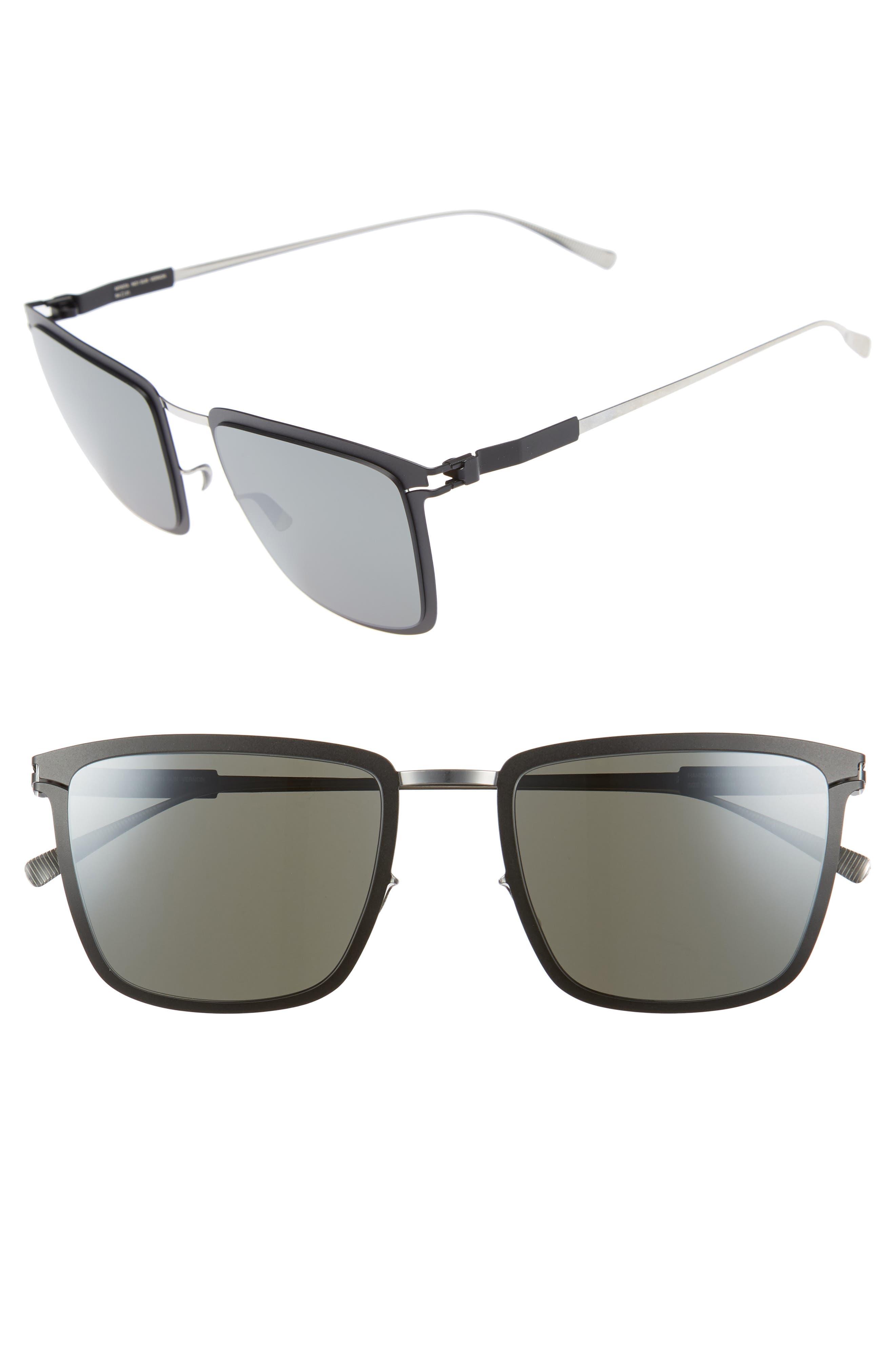 Vernon 54mm Mirrored Sunglasses,                             Main thumbnail 1, color,                             Silver/ Black