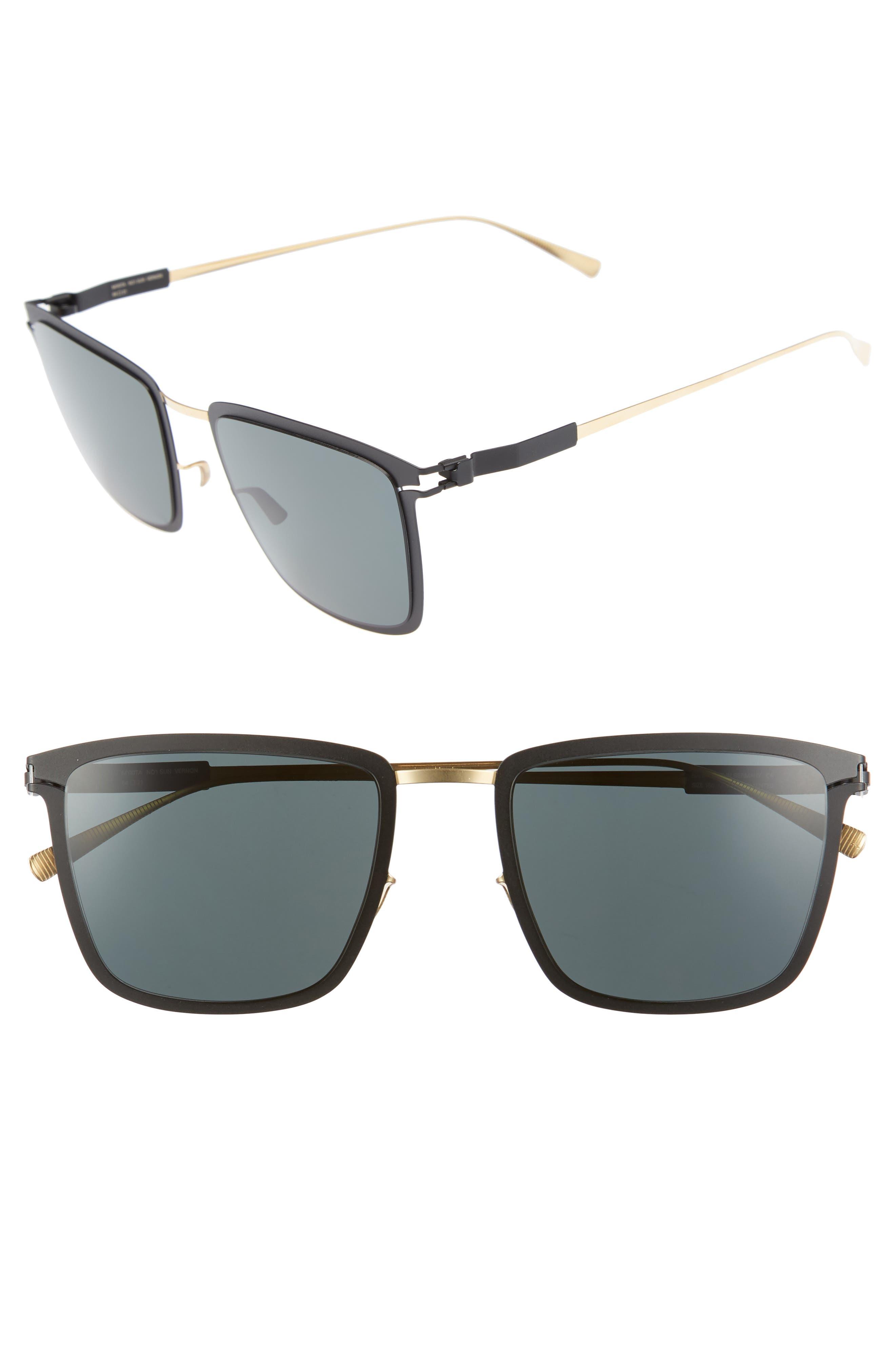 Vernon 54mm Polarized Sunglasses,                             Main thumbnail 1, color,                             Gold/ Black
