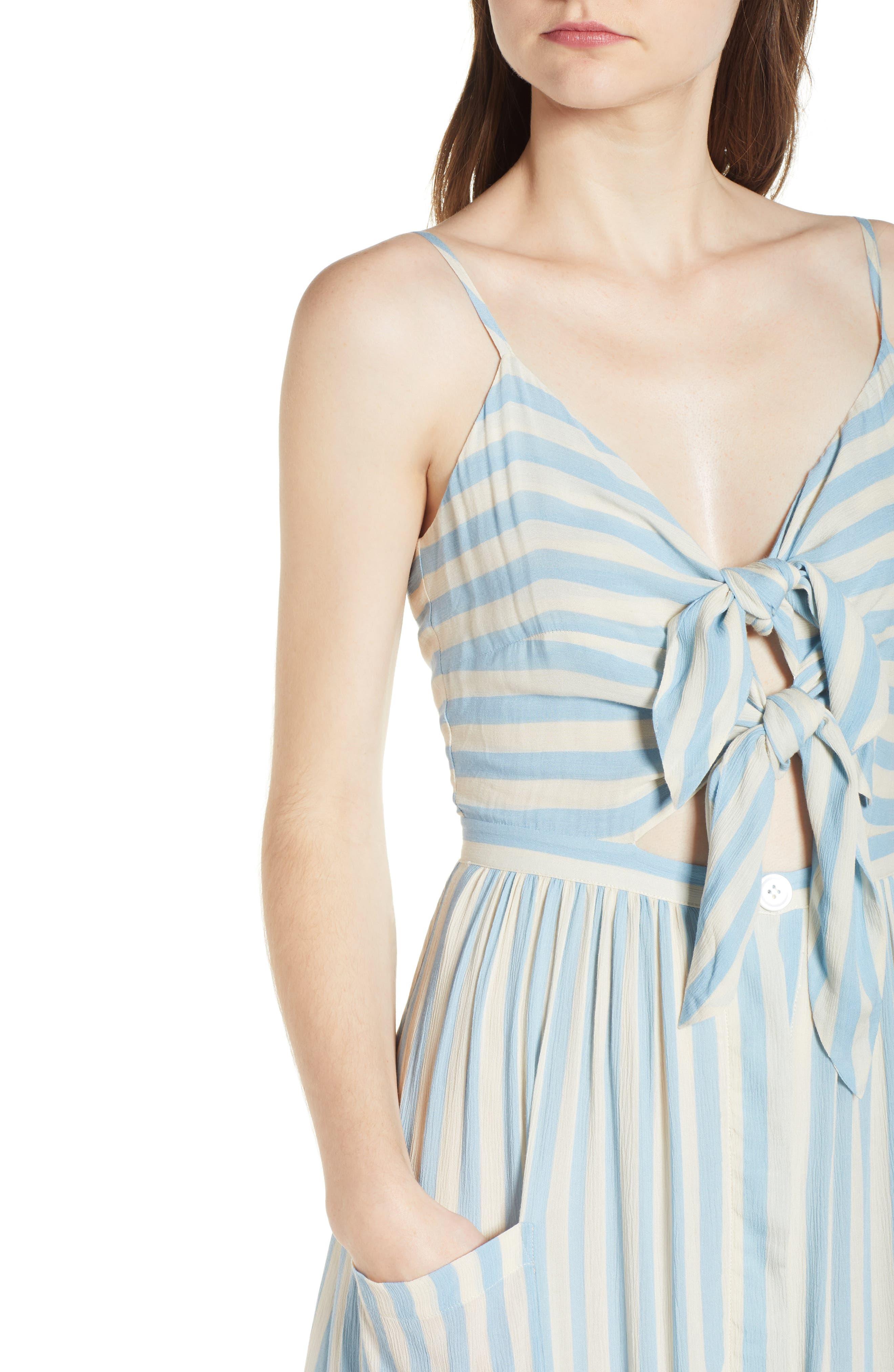 Derinda Dress,                             Alternate thumbnail 4, color,                             Blue Multi
