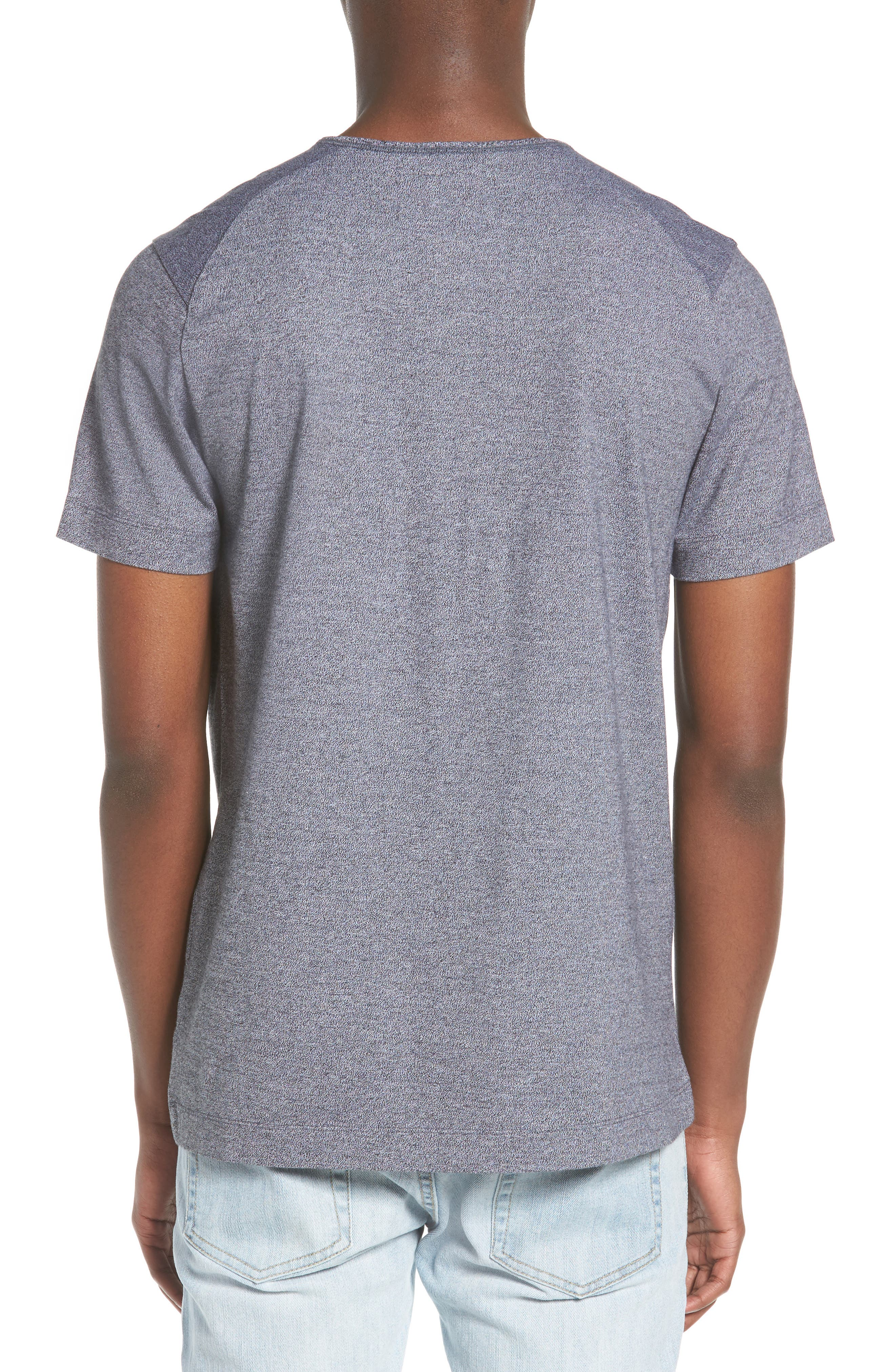 Marled Jersey Henley,                             Alternate thumbnail 2, color,                             Heather Charcoal
