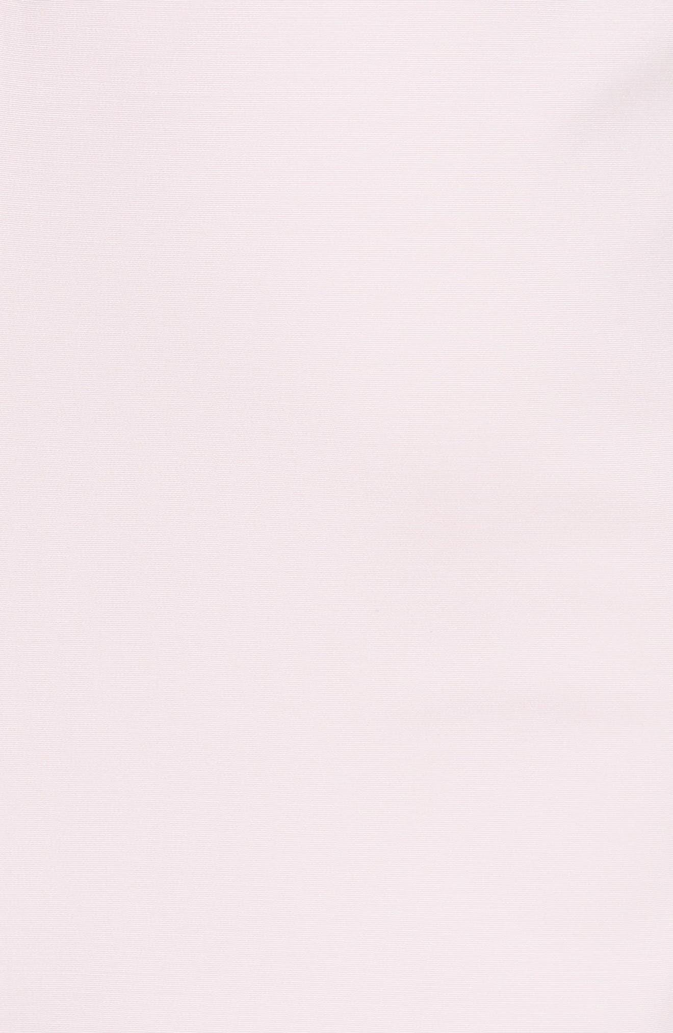 Bow Shoulder Pencil Dress,                             Alternate thumbnail 5, color,                             Lilac