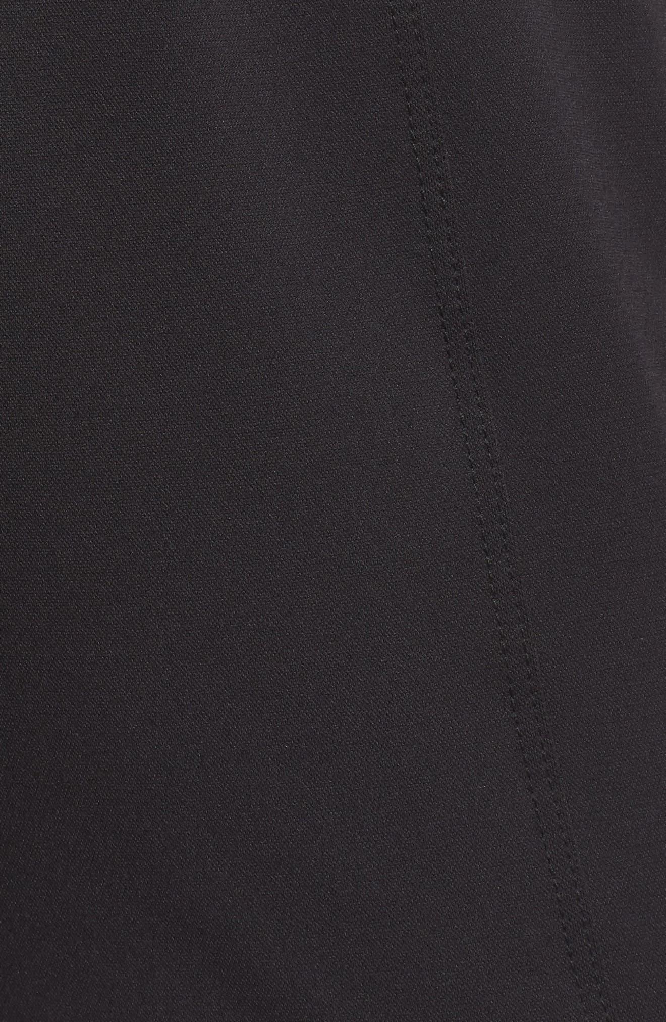 Mica Crop Track Pants,                             Alternate thumbnail 6, color,                             Black