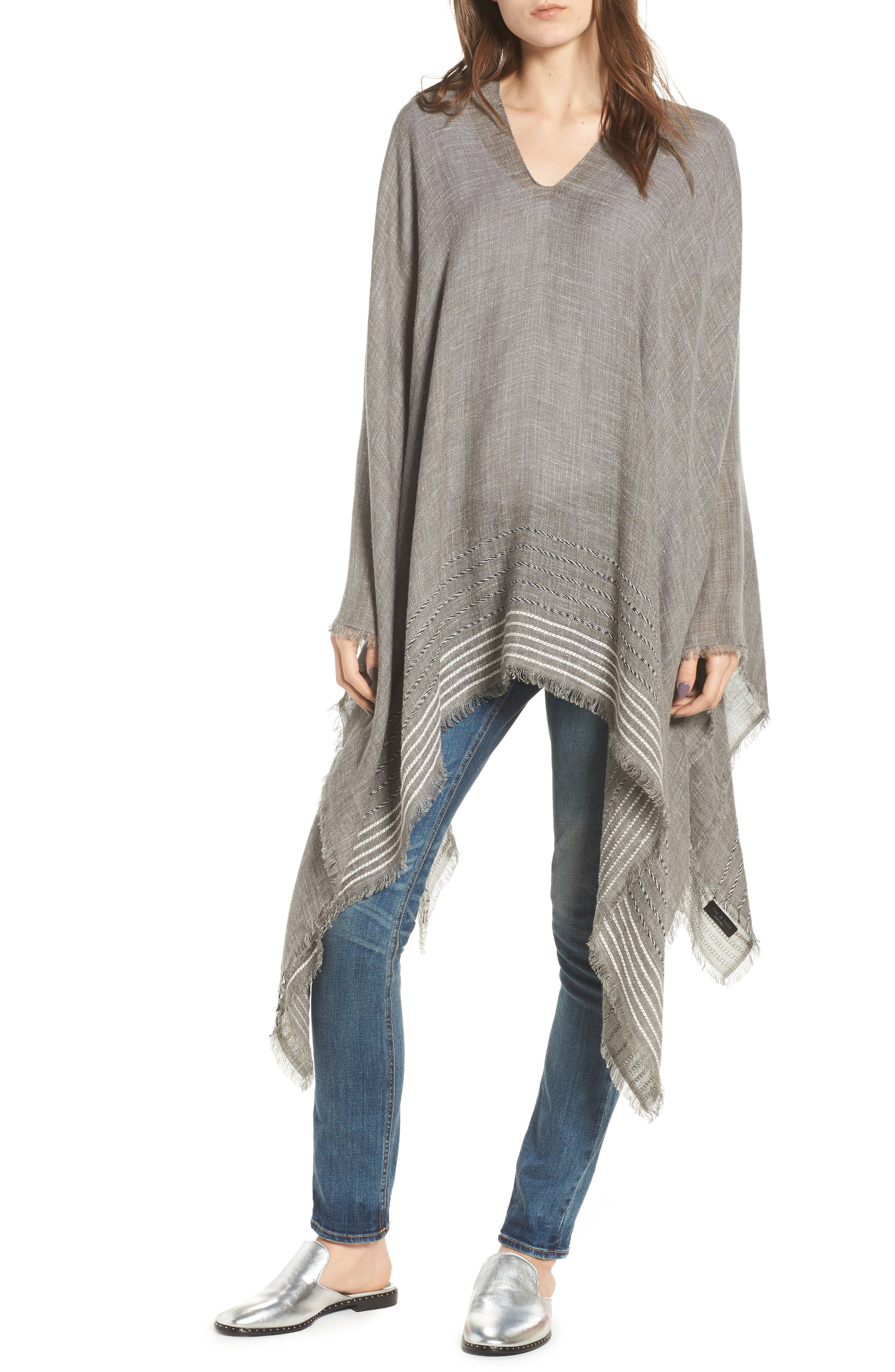 rag & bone Corded Stripe Poncho