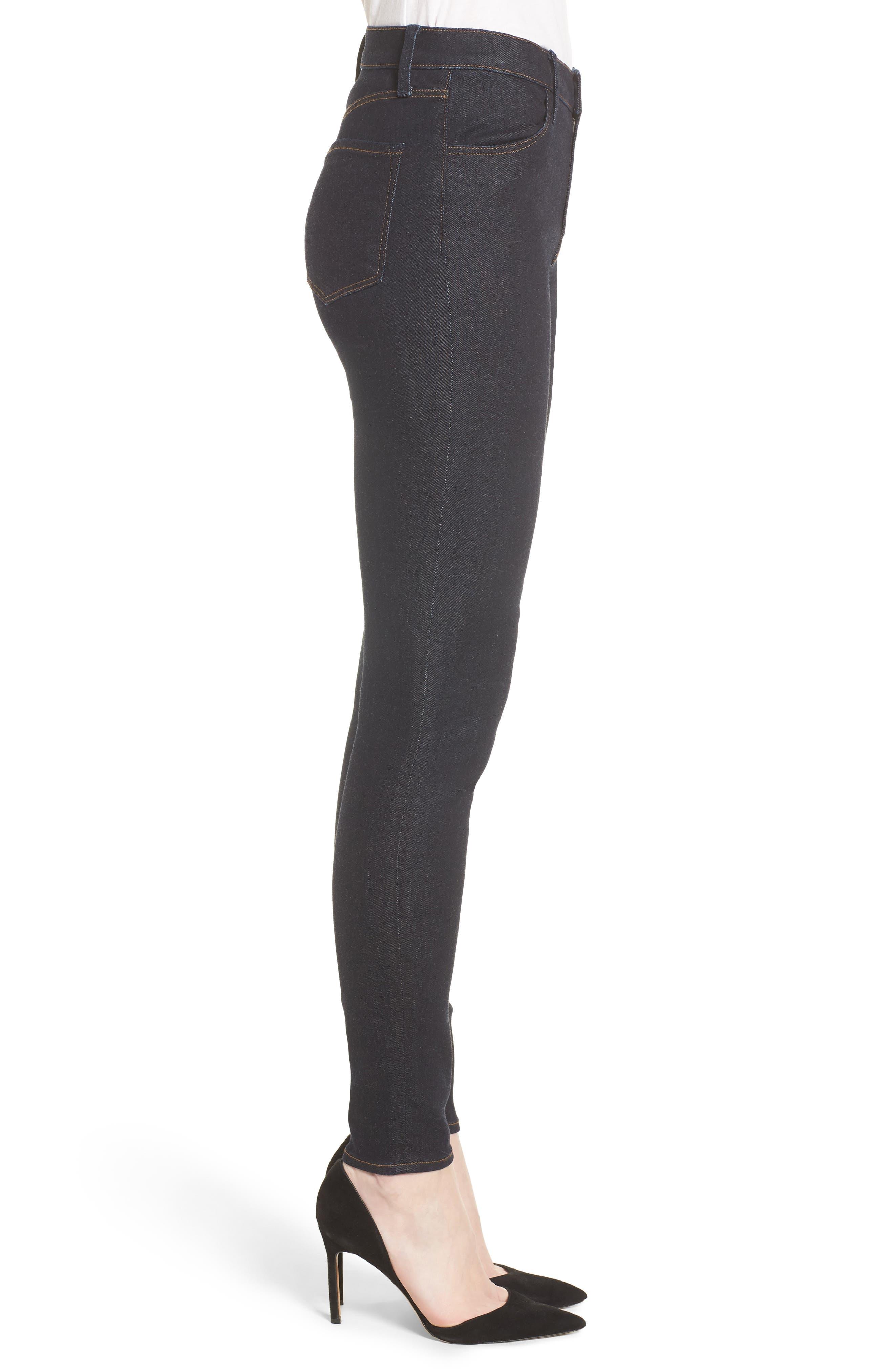 Maria High Waist Super Skinny Jeans,                             Alternate thumbnail 3, color,                             Dark Twilight