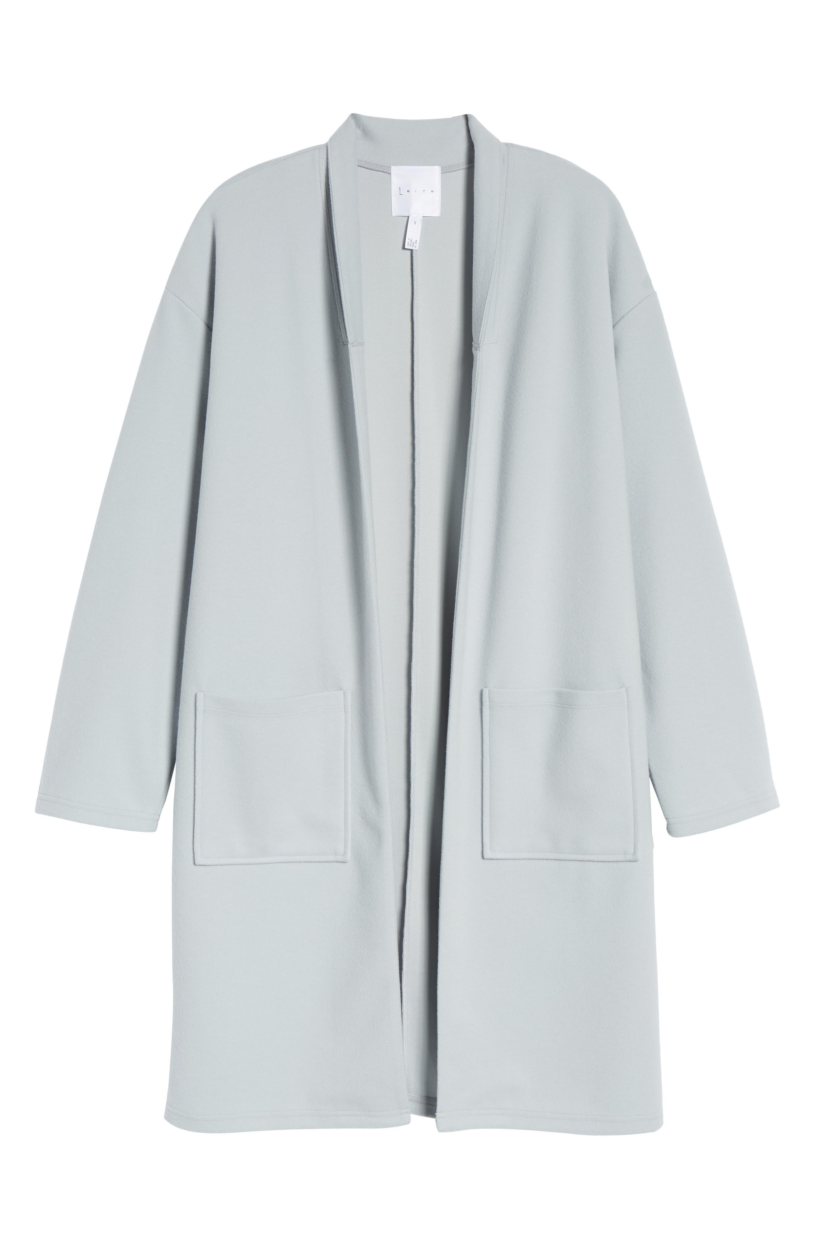 Midi Coat,                             Alternate thumbnail 7, color,                             Blue Pearl