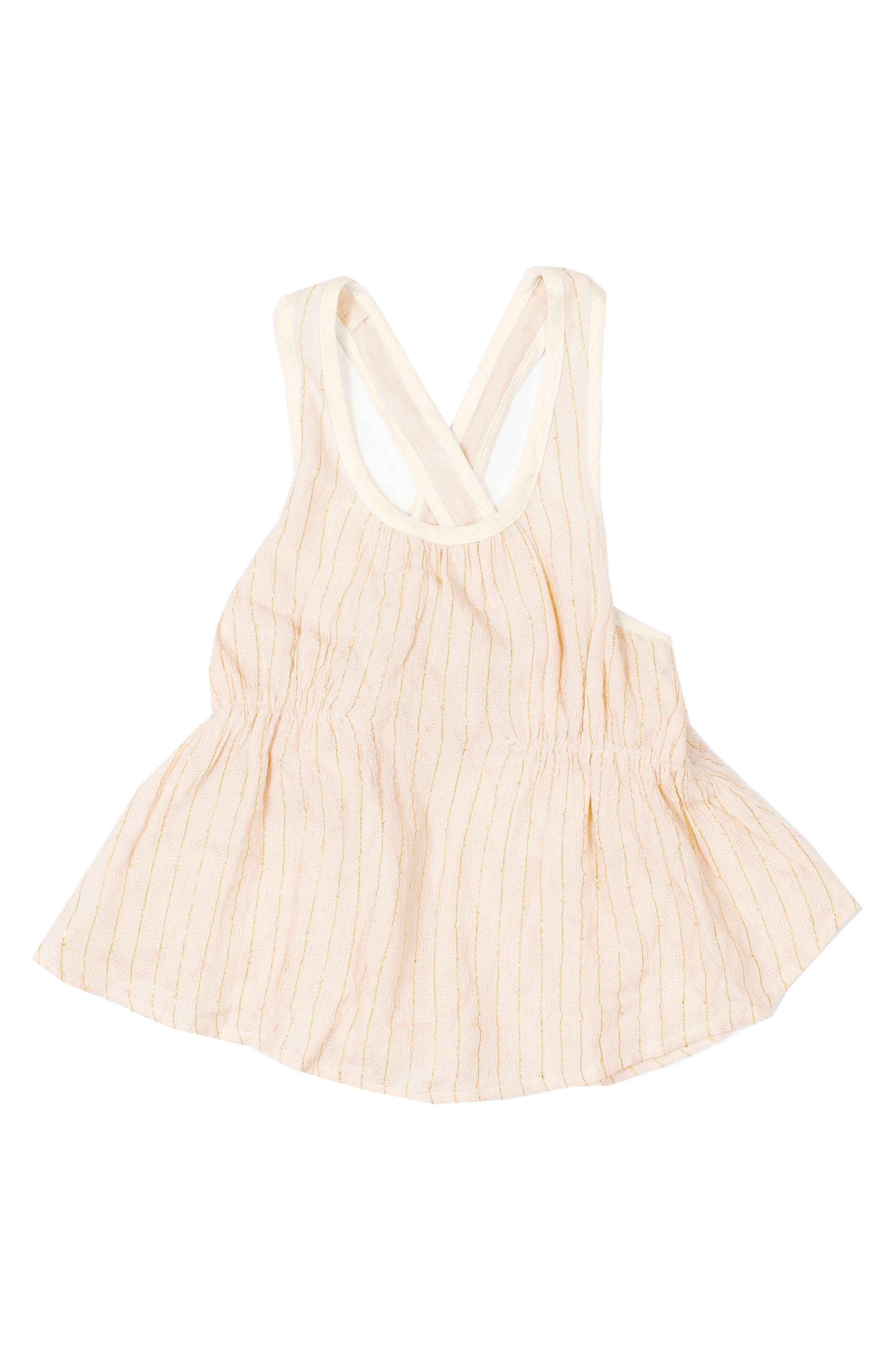 BOWIE X JAMES Aquarius Metallic Stripe Top (Toddler Girls, Little Girls & Big Girls)