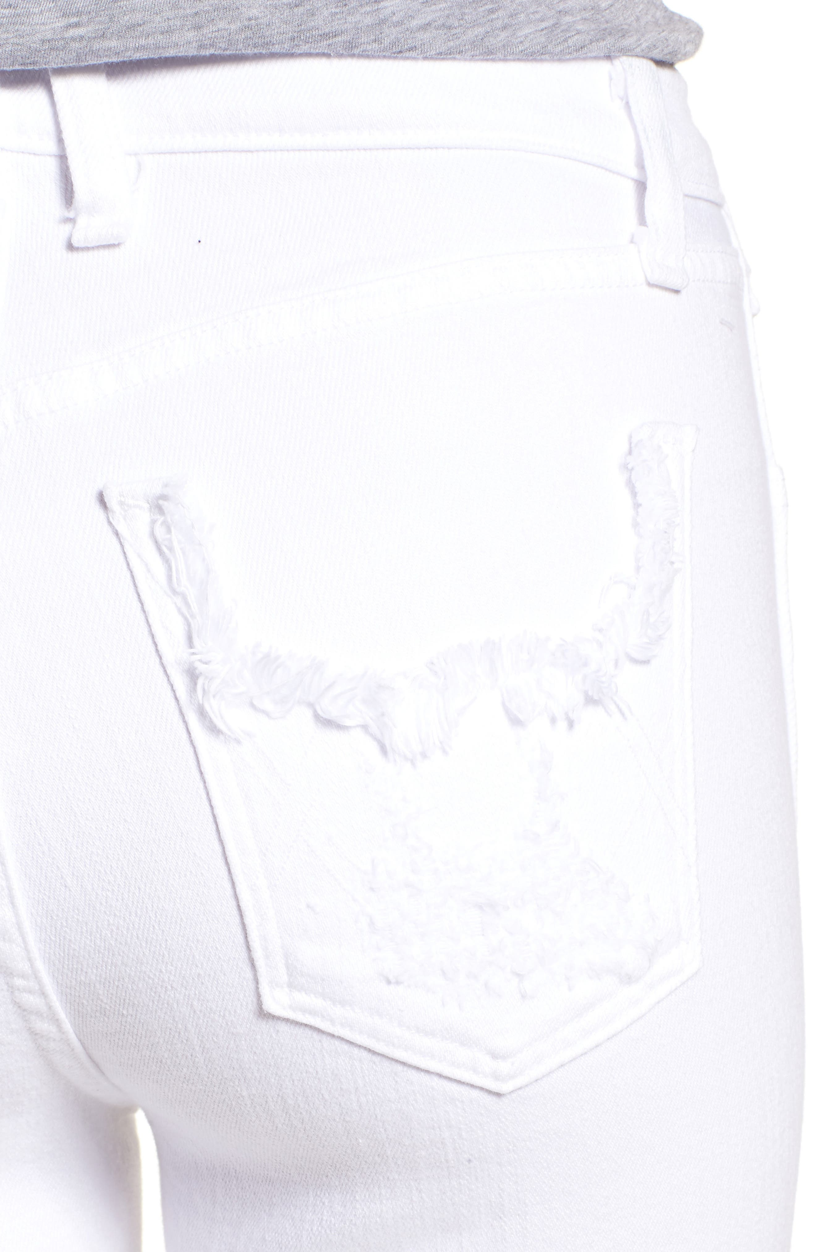 Kaia Distressed High Waist Slim Jeans,                             Alternate thumbnail 4, color,                             Riders In The Sky