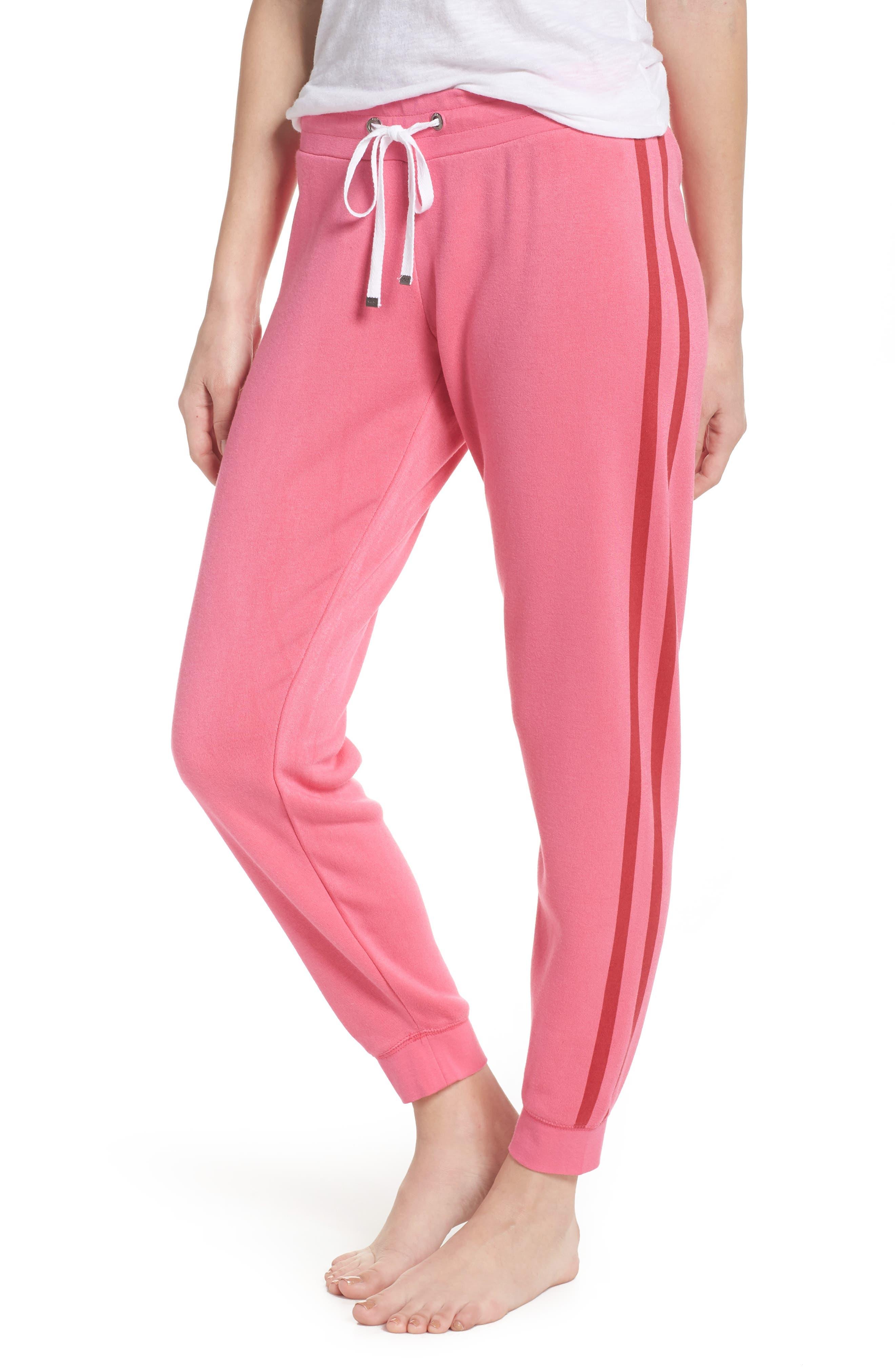Firecracker Jogger Pajama Pants,                             Main thumbnail 1, color,                             Pink Fandango
