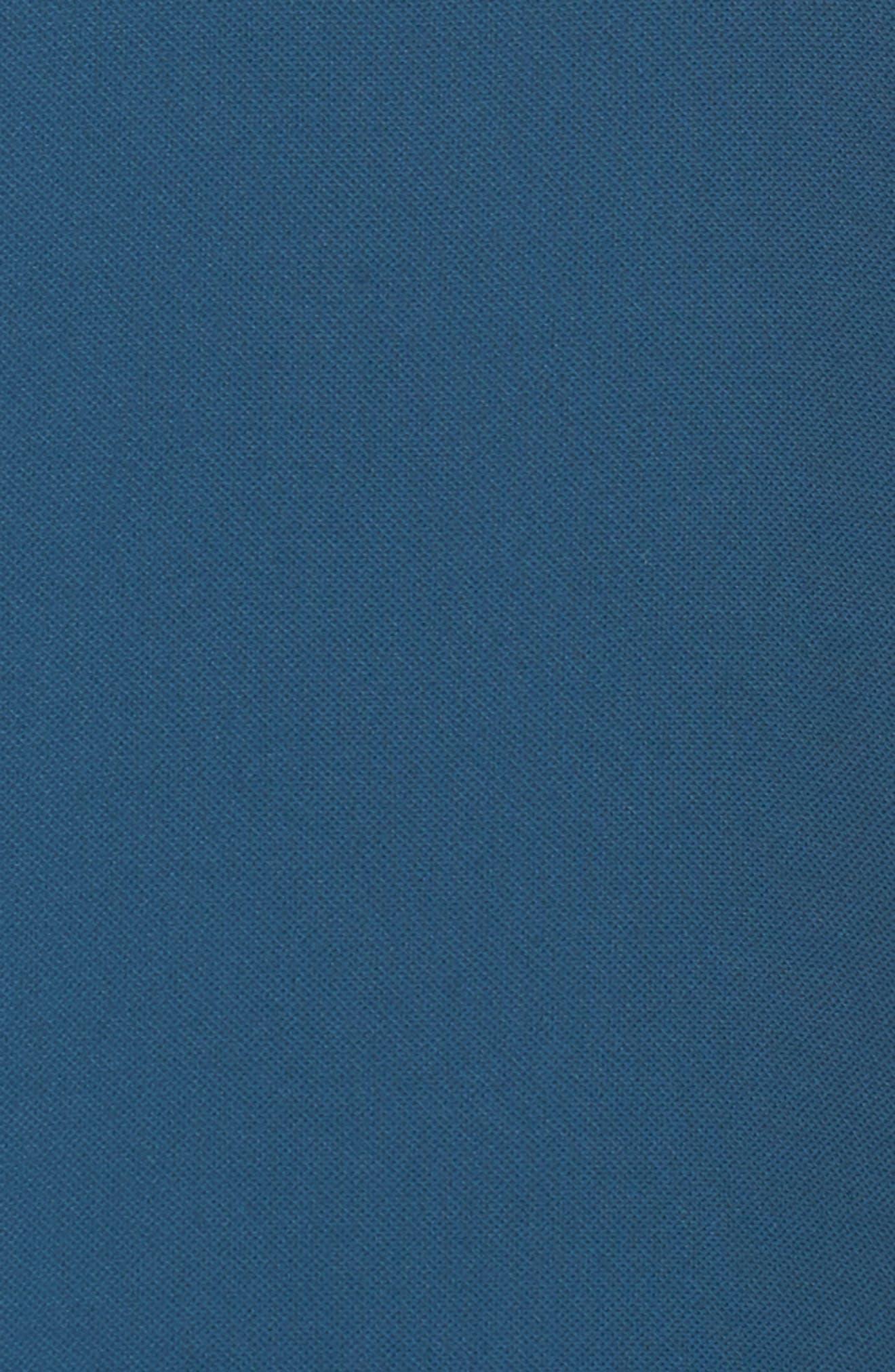 Gauzy One-Shoulder Crepe Dress,                             Alternate thumbnail 3, color,                             Midnight Jungle