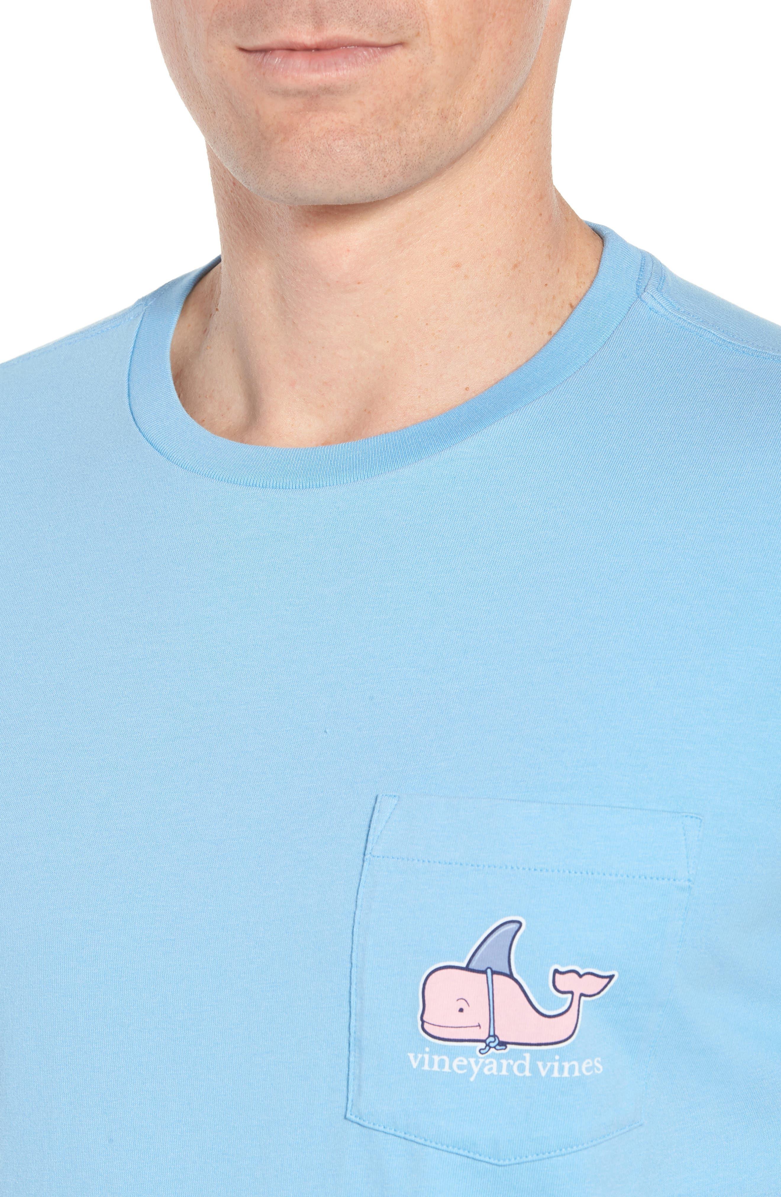 x Shark Week<sup>™</sup> Decoy Whale Pocket T-Shirt,                             Alternate thumbnail 4, color,                             Ocean Breeze