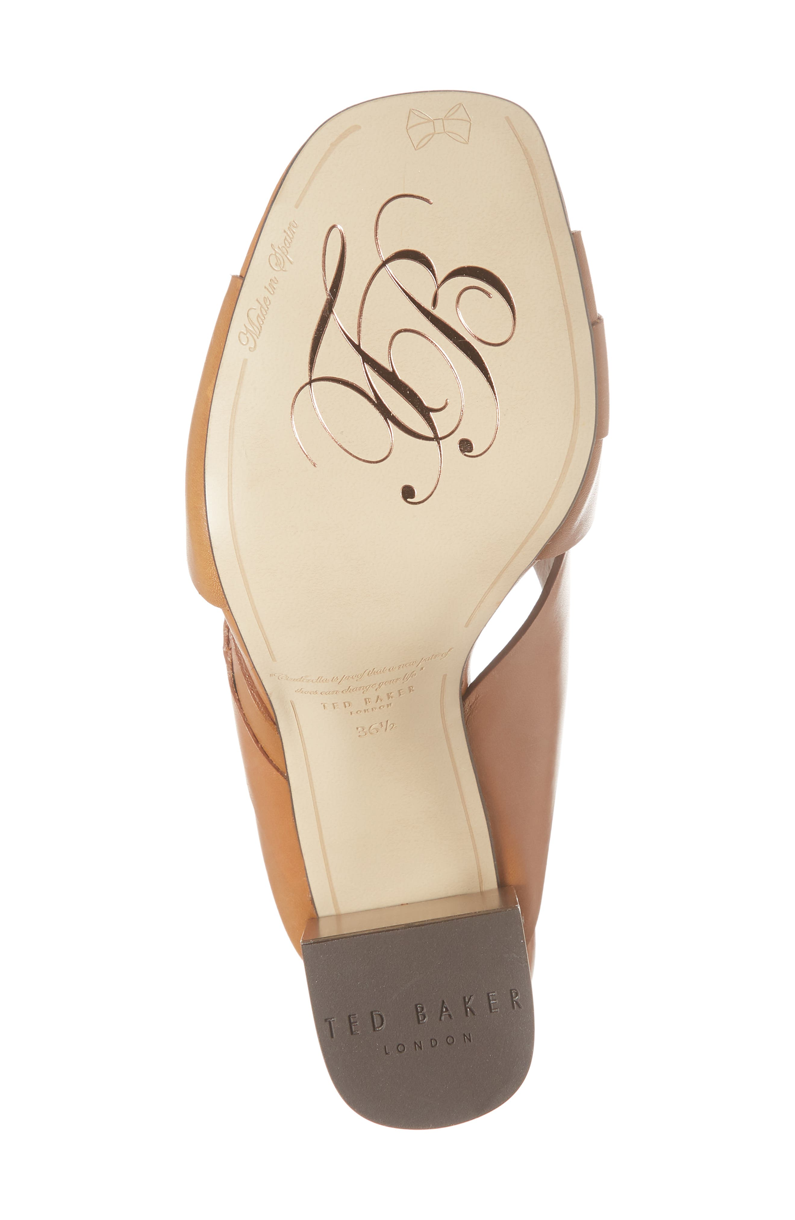 Maladas Slide Sandal,                             Alternate thumbnail 6, color,                             Tan Leather