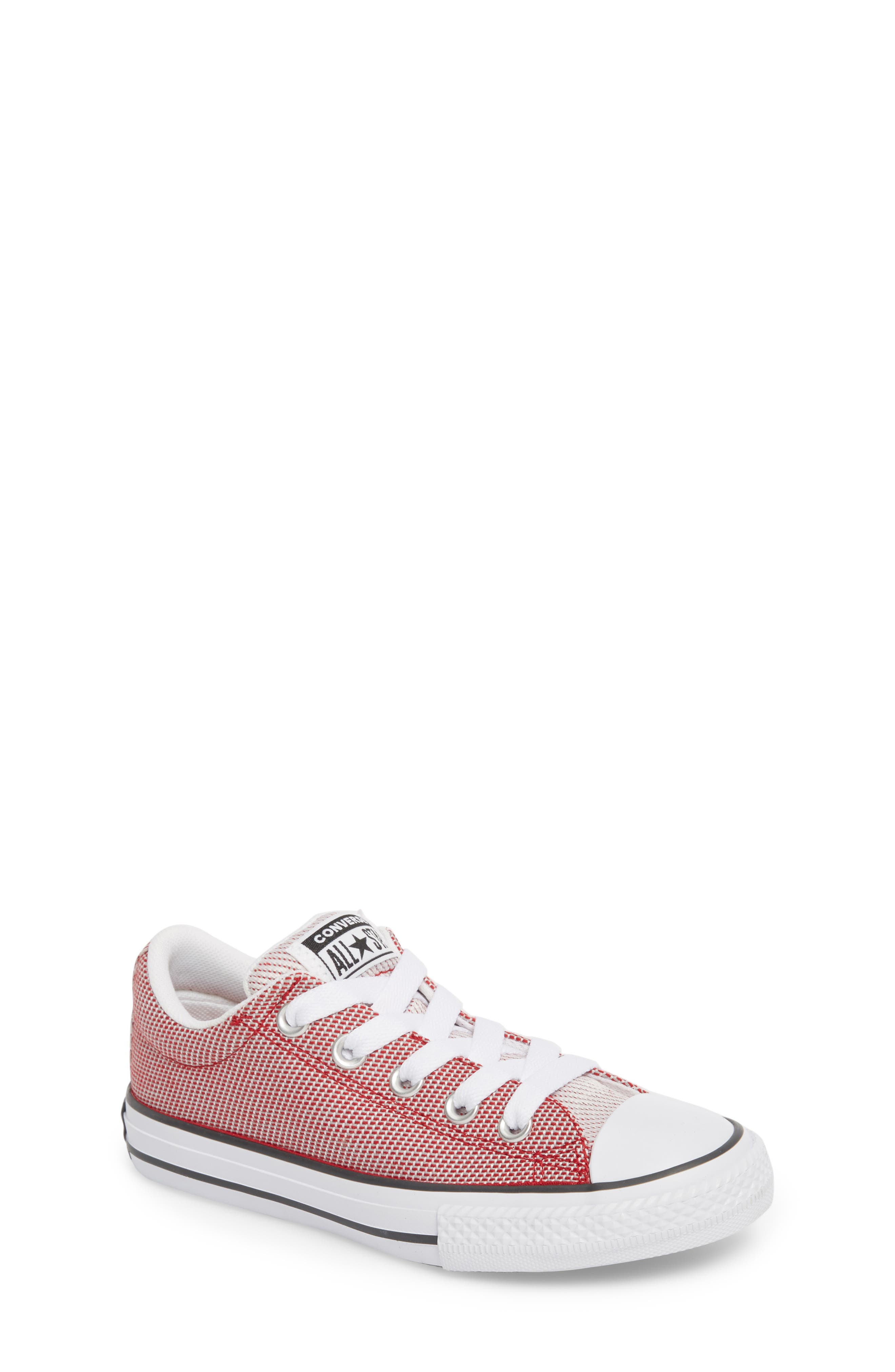 Chuck Taylor<sup>®</sup> All Star<sup>®</sup> Woven Street Sneaker,                             Main thumbnail 1, color,                             Gym Red