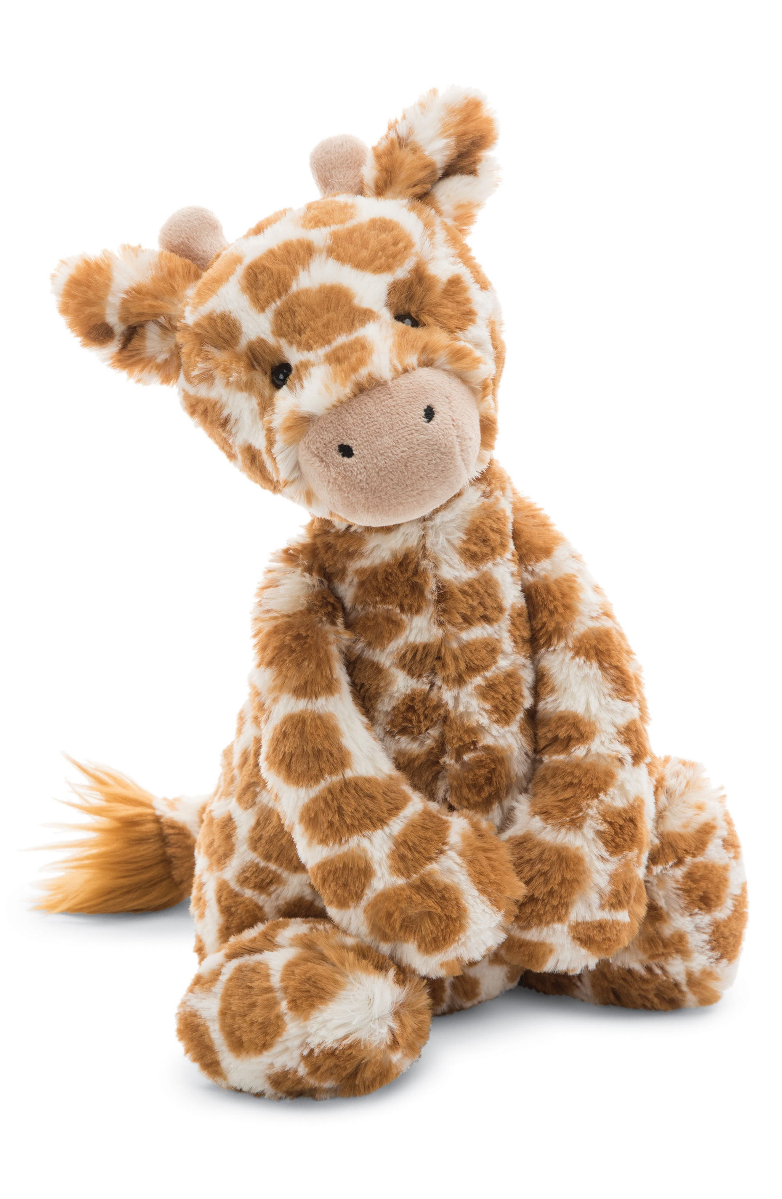 Bashful Giraffe Stuffed Animal,                             Main thumbnail 1, color,                             Brown / Cream