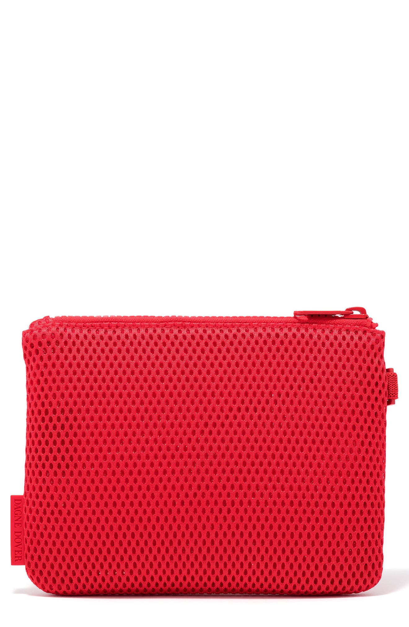Small Parker Mesh Pouch,                             Main thumbnail 1, color,                             Poppy Air Mesh