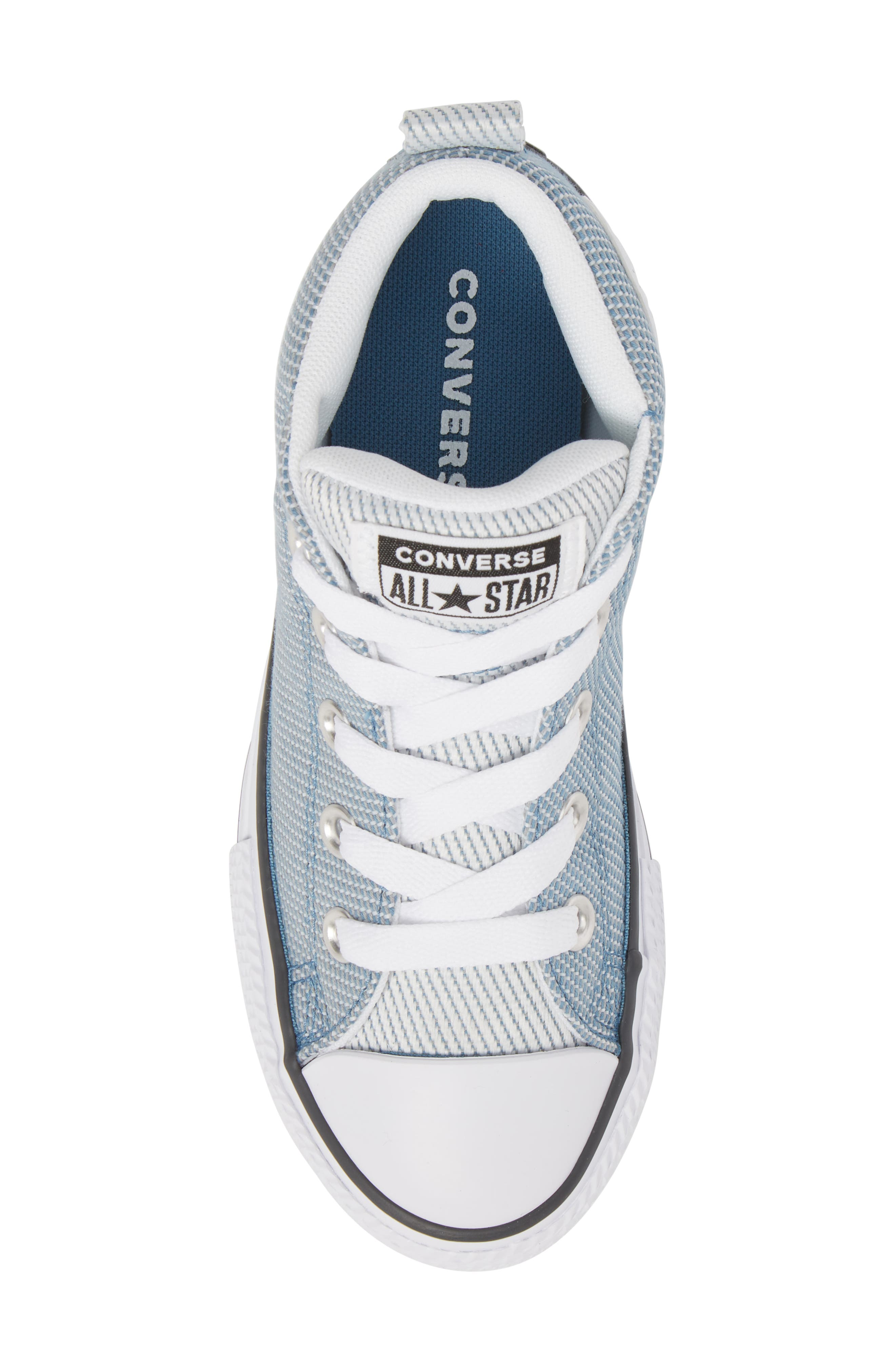 Chuck Taylor<sup>®</sup> All Star<sup>®</sup> Woven Street Mid Sneaker,                             Alternate thumbnail 5, color,                             Aegean Storm