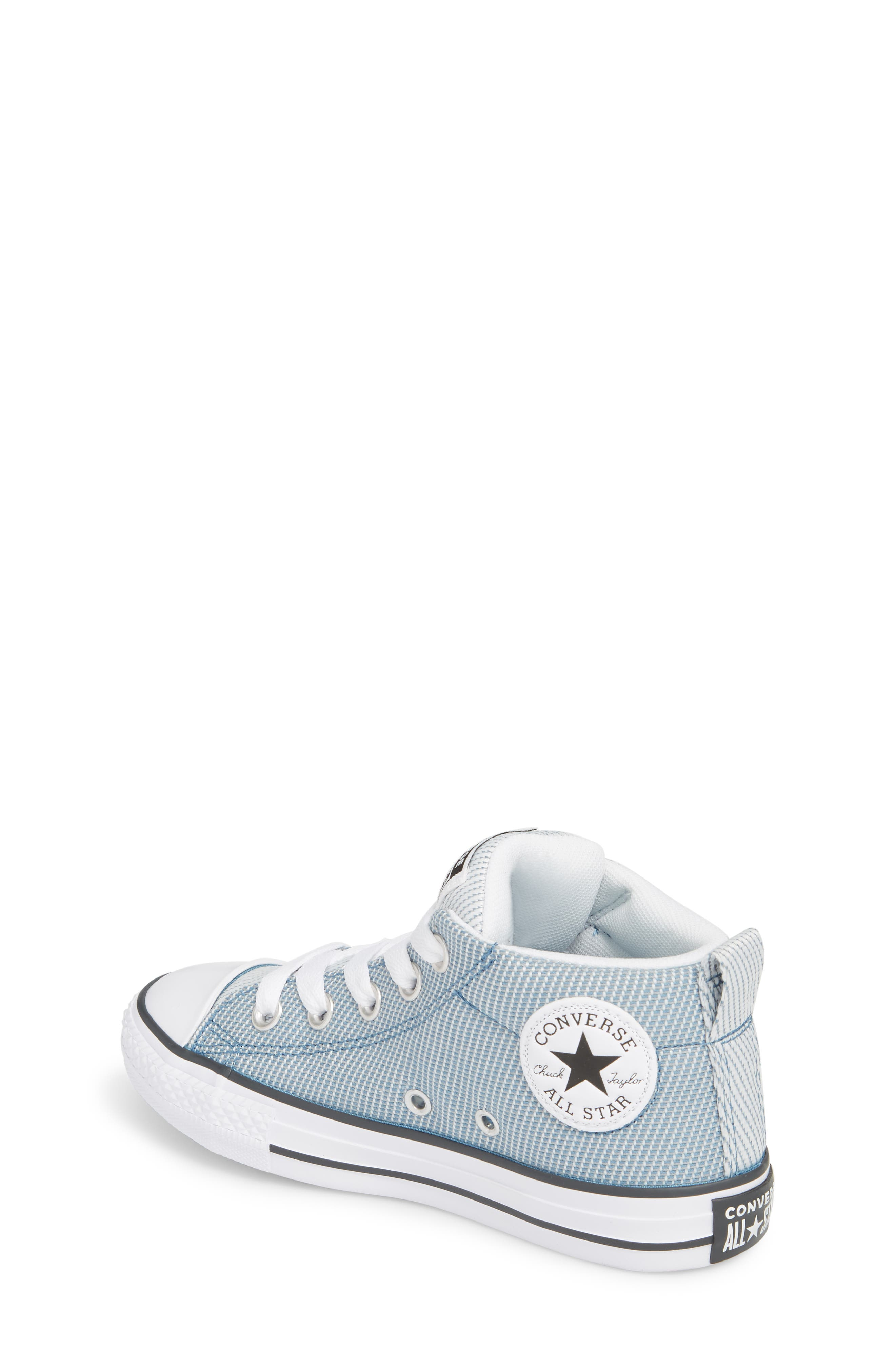 Chuck Taylor<sup>®</sup> All Star<sup>®</sup> Woven Street Mid Sneaker,                             Alternate thumbnail 2, color,                             Aegean Storm
