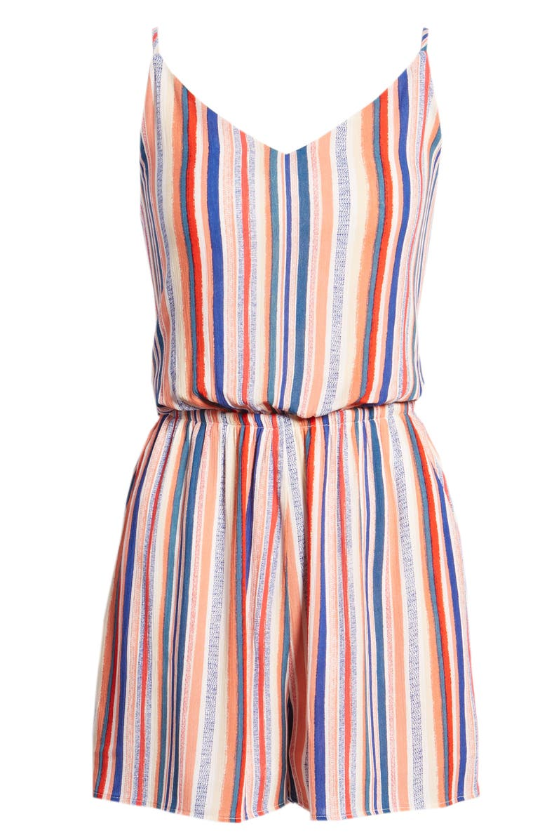 One Clothing Rainbow Stripe Romper
