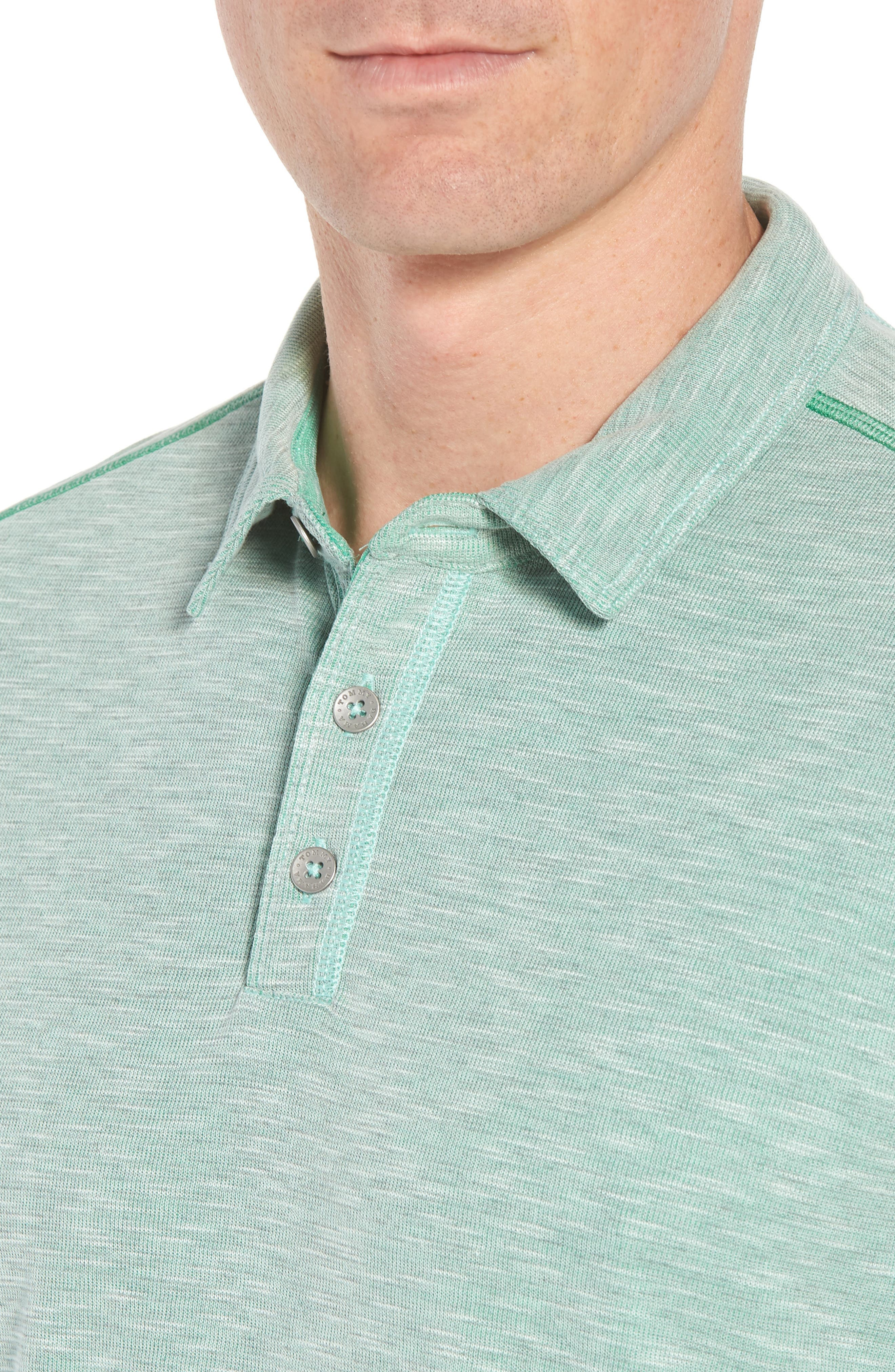 Flip Tide Tee Spectator Polo,                             Alternate thumbnail 4, color,                             Green Finch