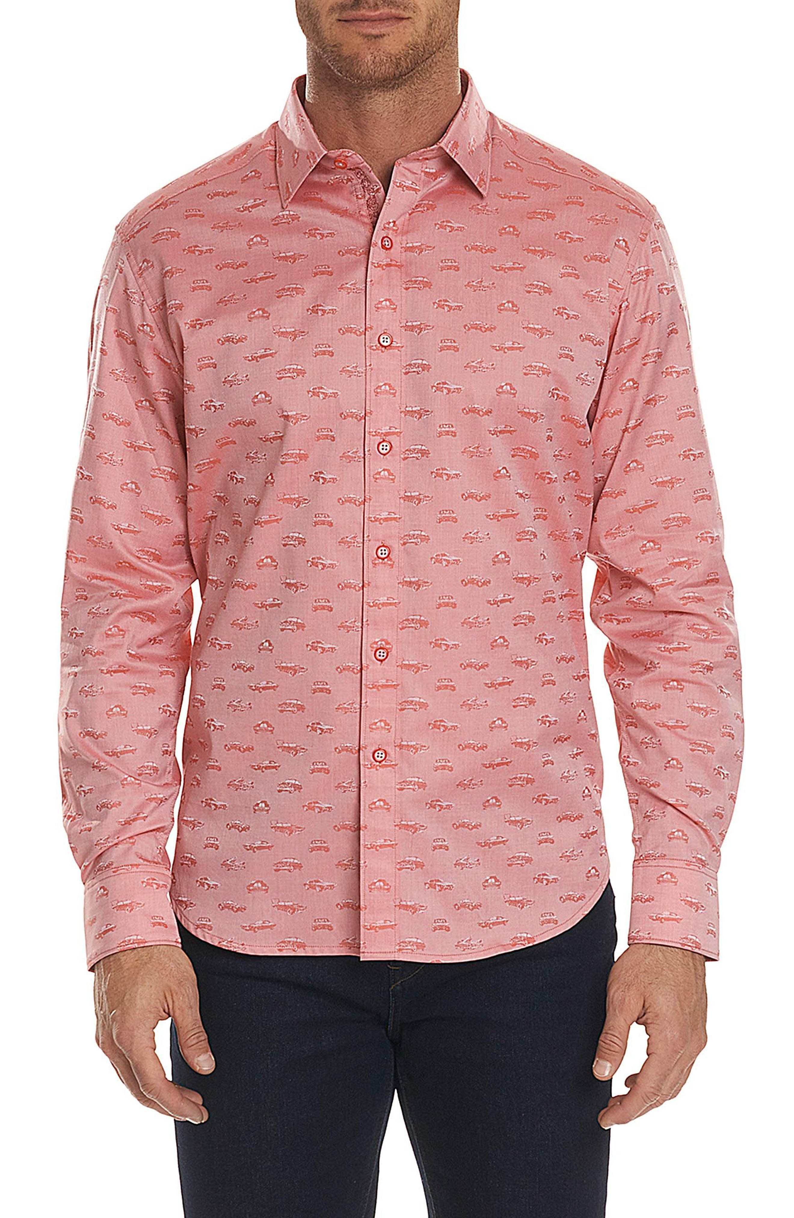 Robert Graham Car Enthusiast Jacquard Sport Shirt