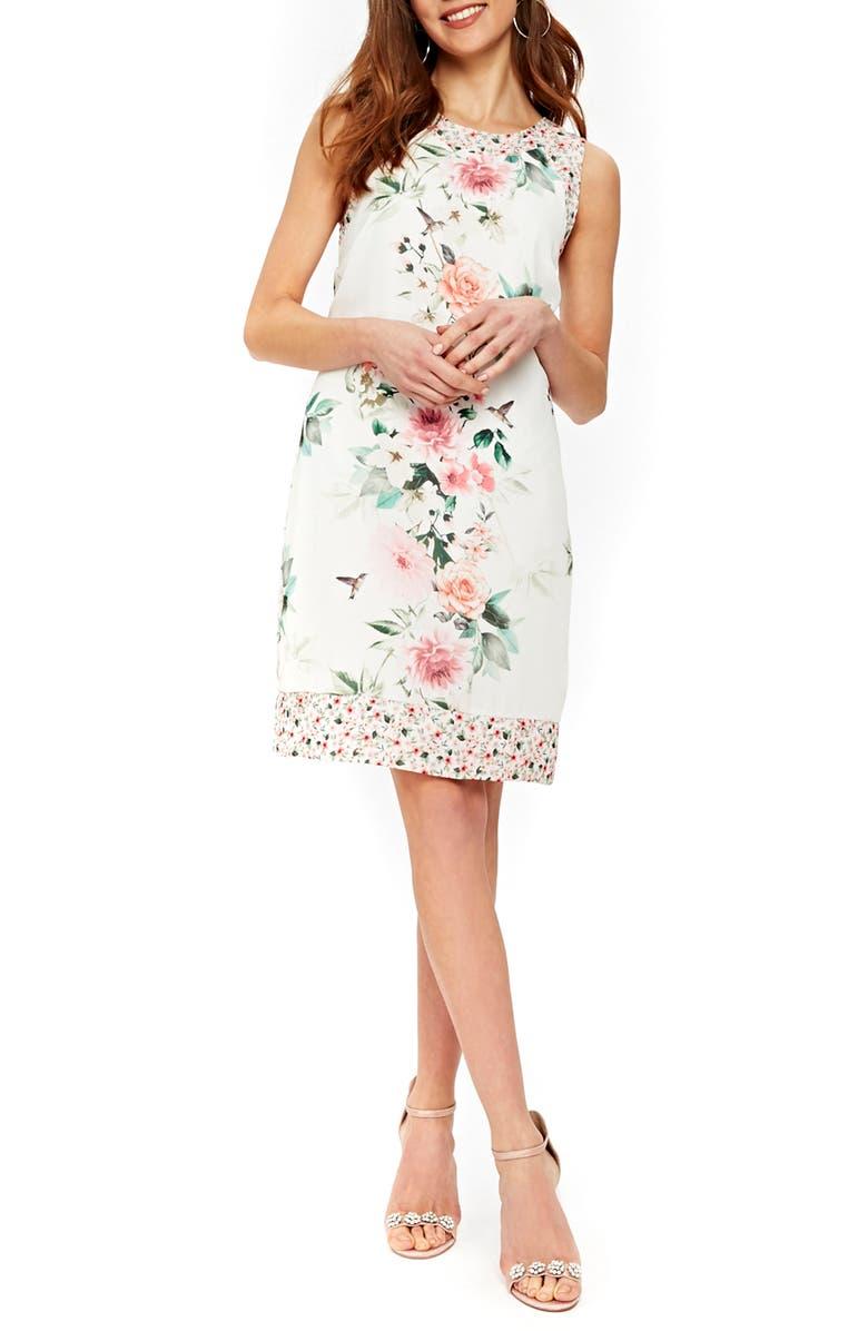 Peony Print Sheath Dress