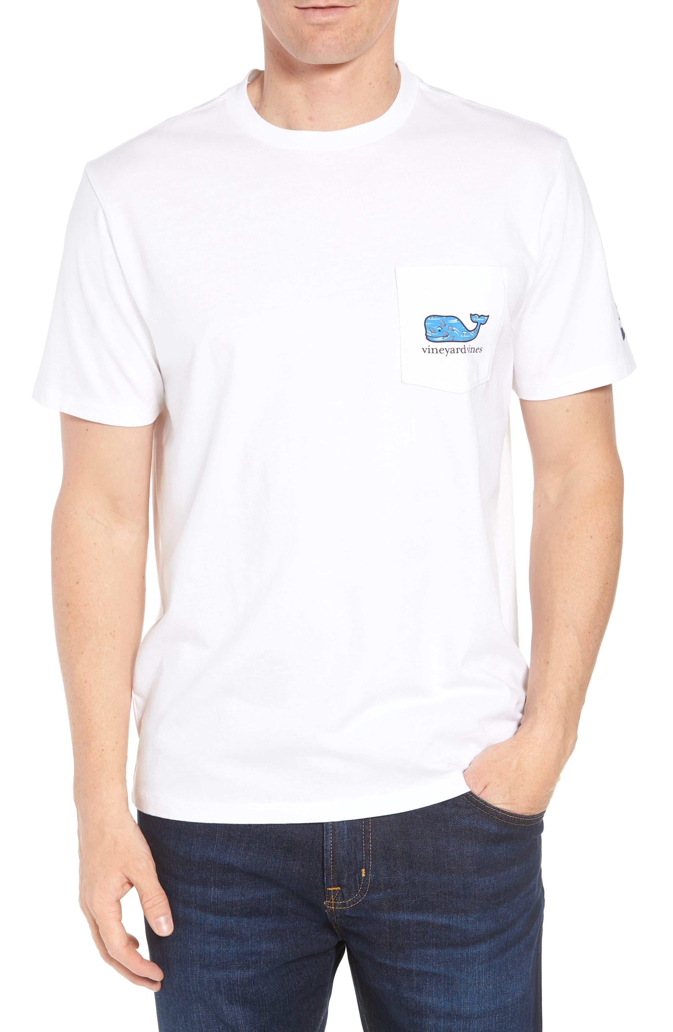 x Shark Week<sup>™</sup> Circling Sharks Pocket T-Shirt,                             Main thumbnail 1, color,                             White Cap