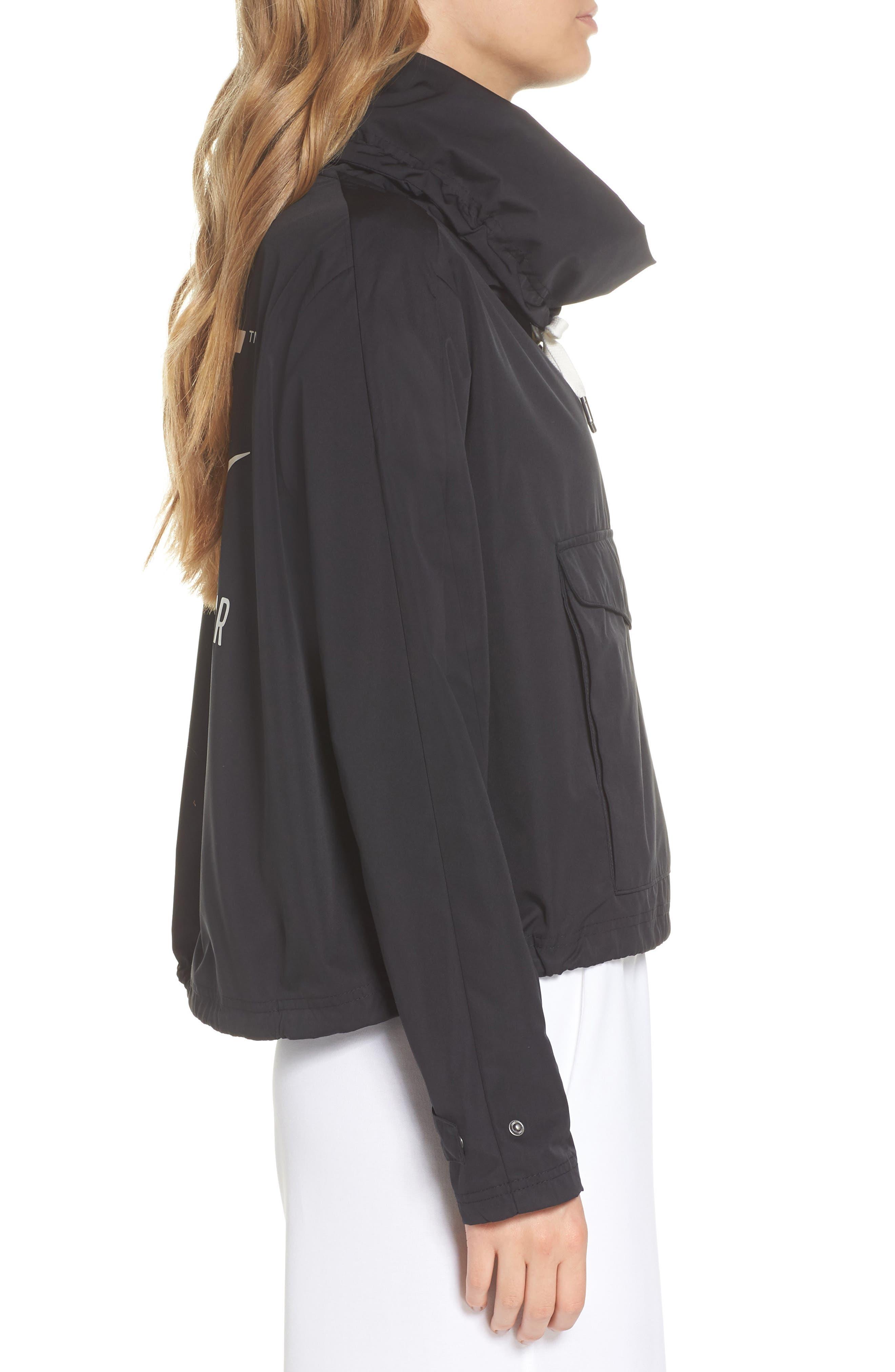 Sportswear Archive Jacket,                             Alternate thumbnail 3, color,                             Black/ Black