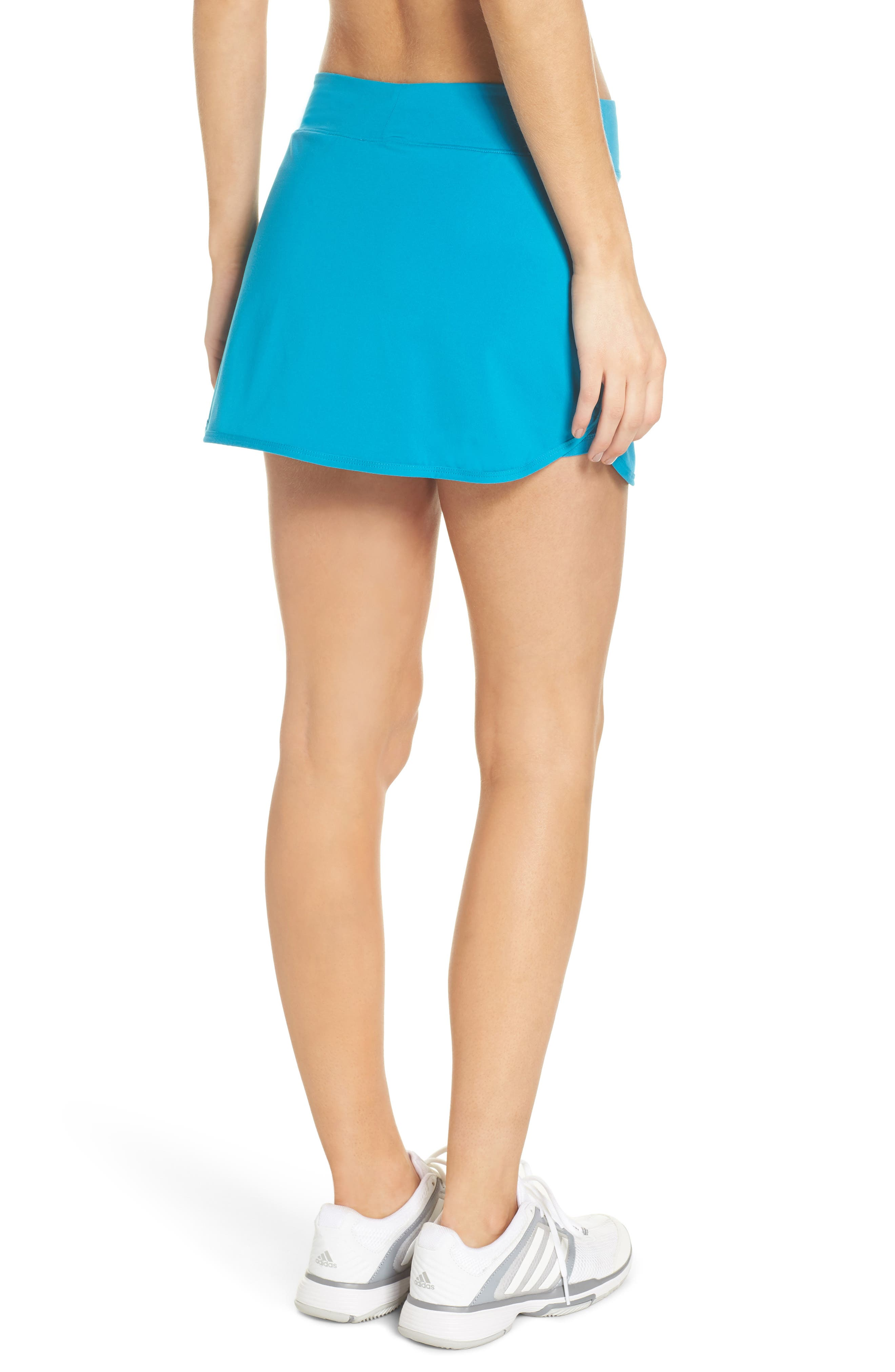 'Pure' Dri-FIT Tennis Skirt,                             Alternate thumbnail 2, color,                             Neo Turquoise/ White