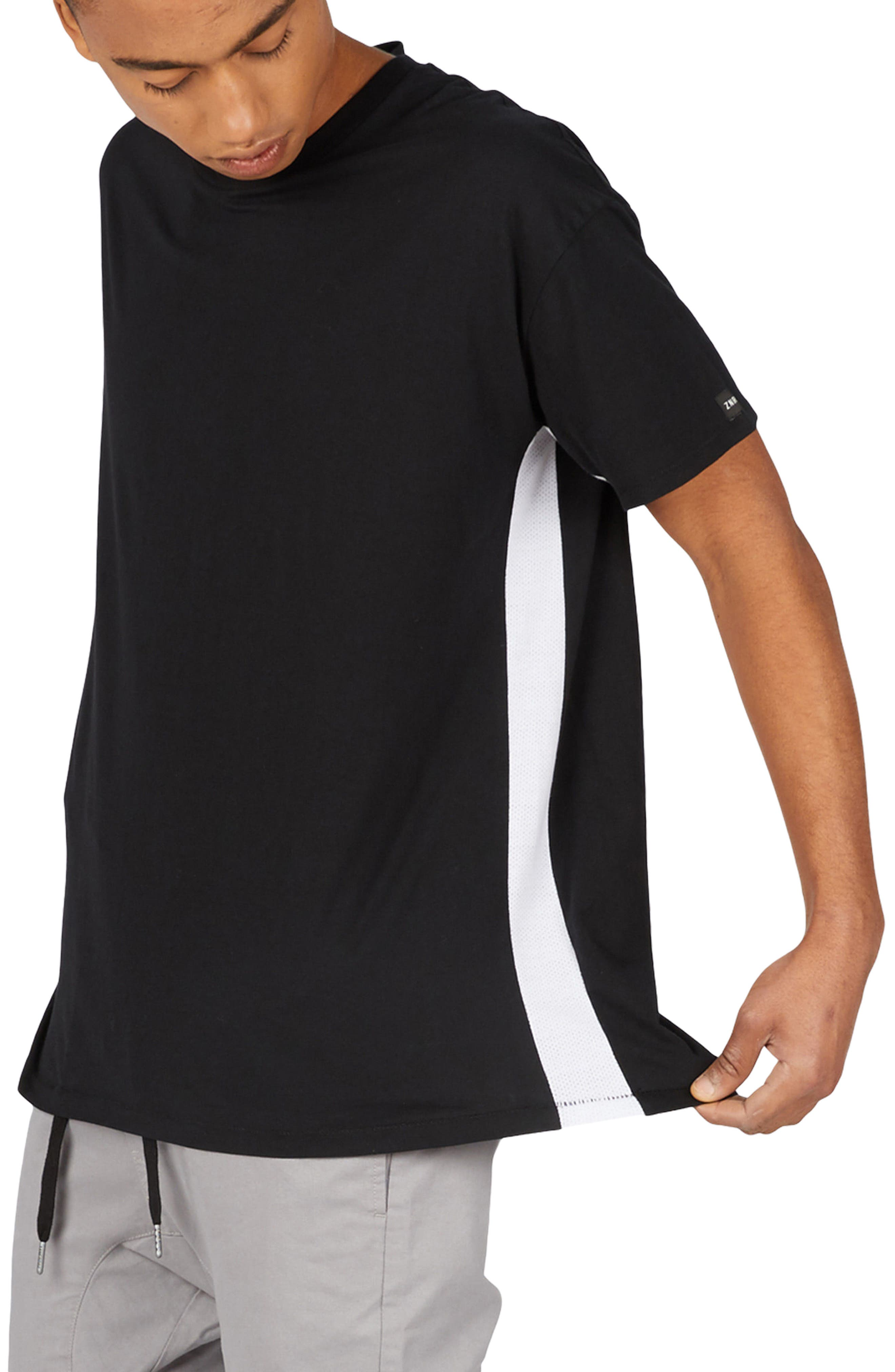 Sideline Rugger T-Shirt,                             Alternate thumbnail 3, color,                             Black
