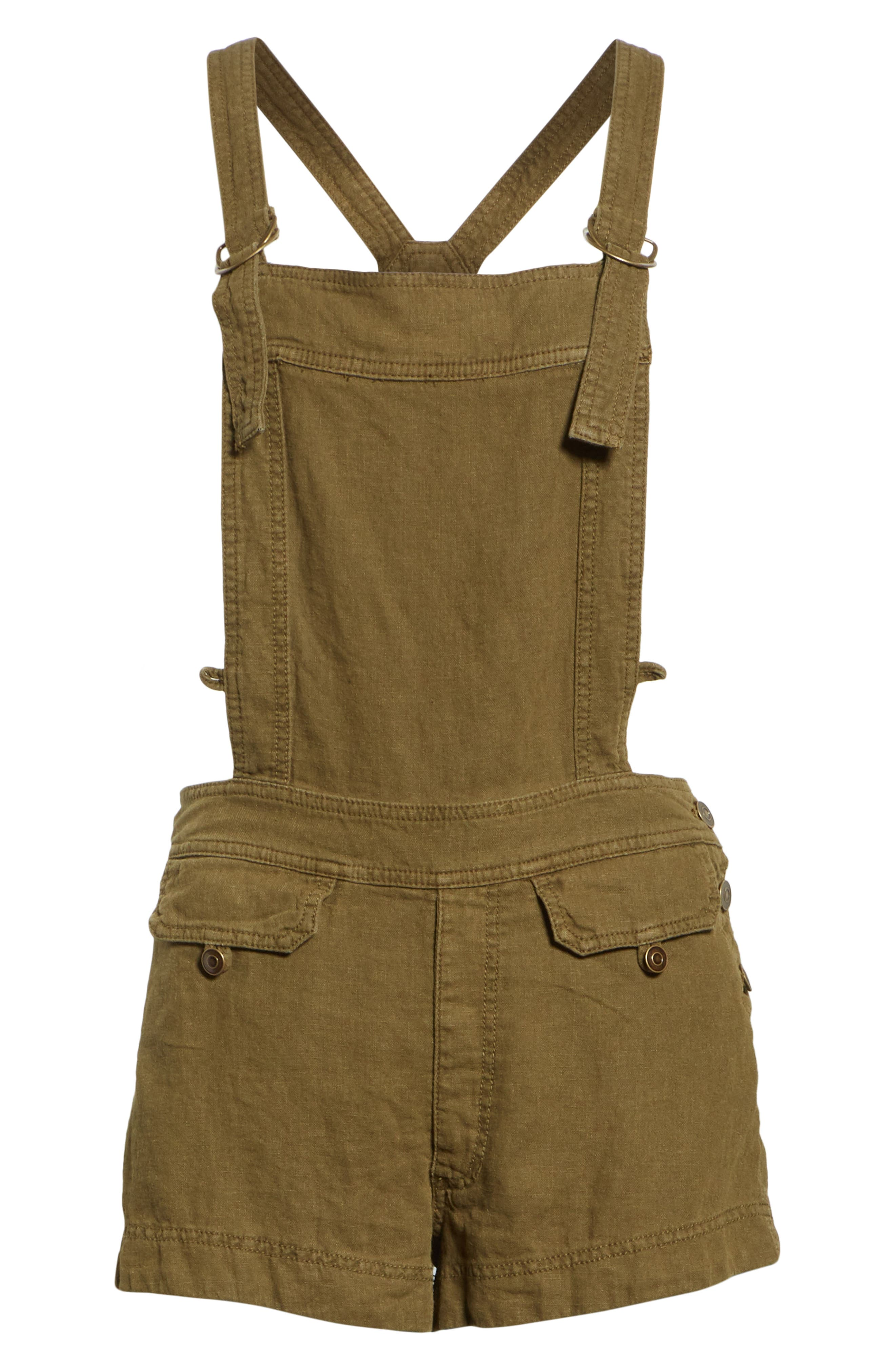 Expedition Short Overalls,                             Alternate thumbnail 6, color,                             Army