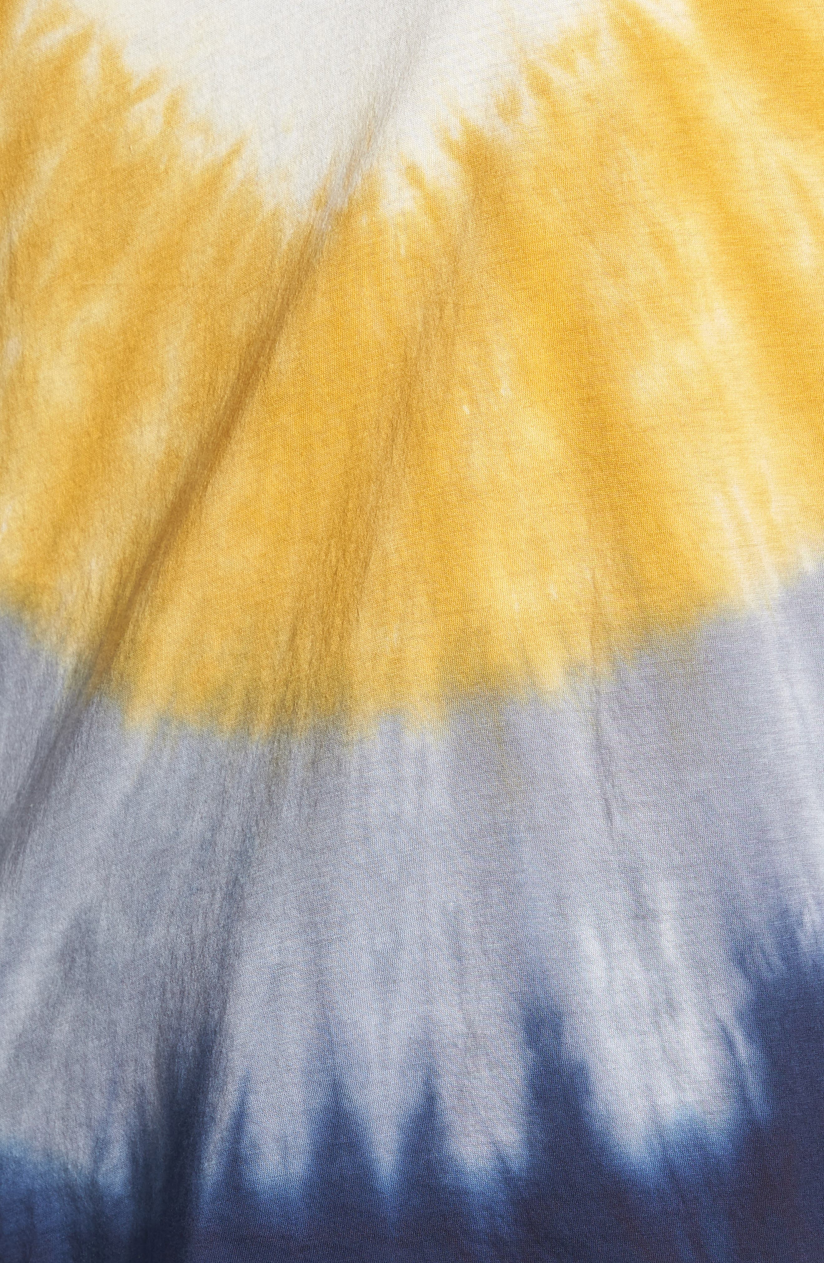 Tie Dye Tee,                             Alternate thumbnail 6, color,                             Ivory/ Yellow/ Blue A/ S