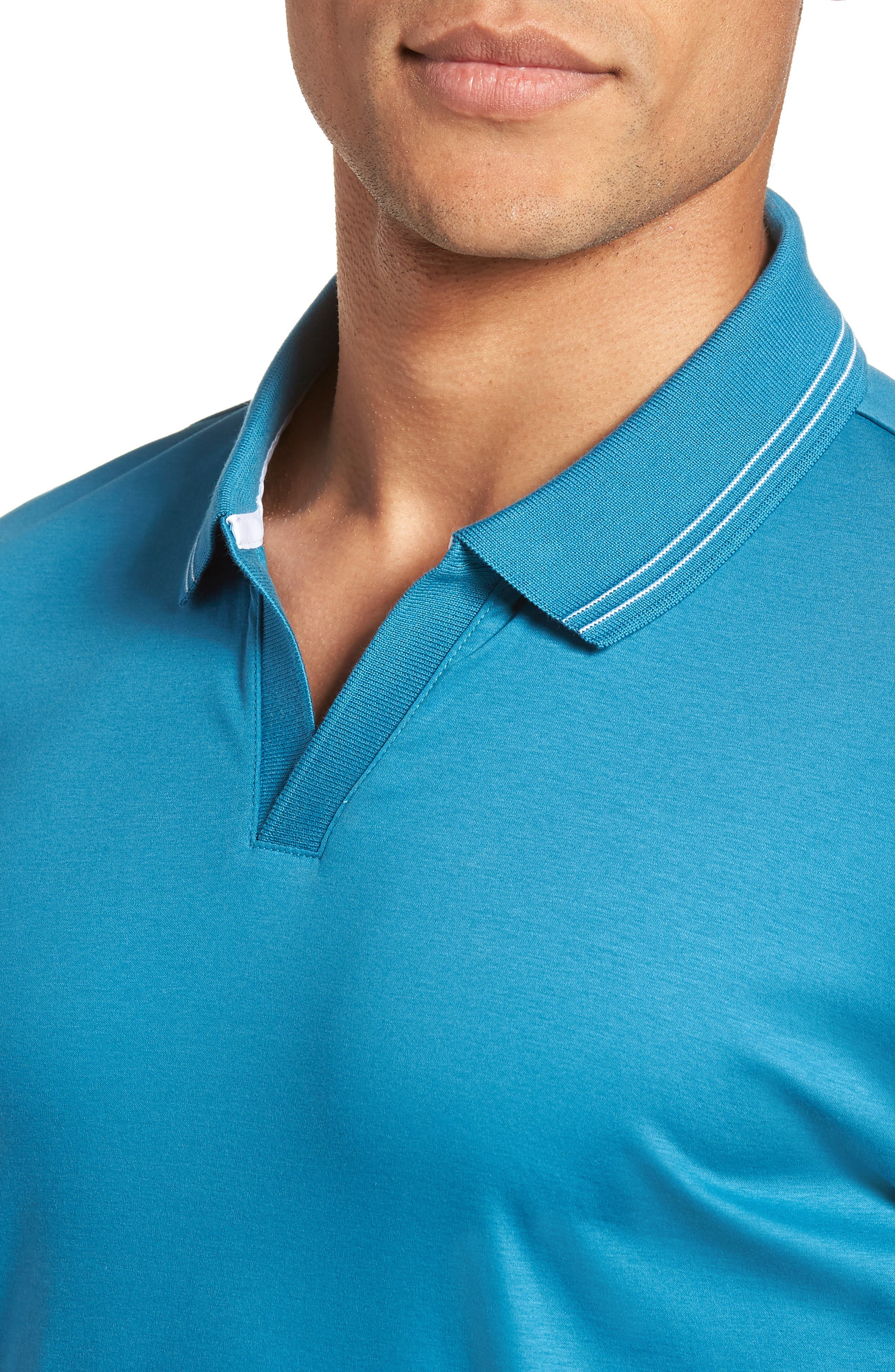 Parlay Johnny Polo Shirt,                             Alternate thumbnail 4, color,                             Blue