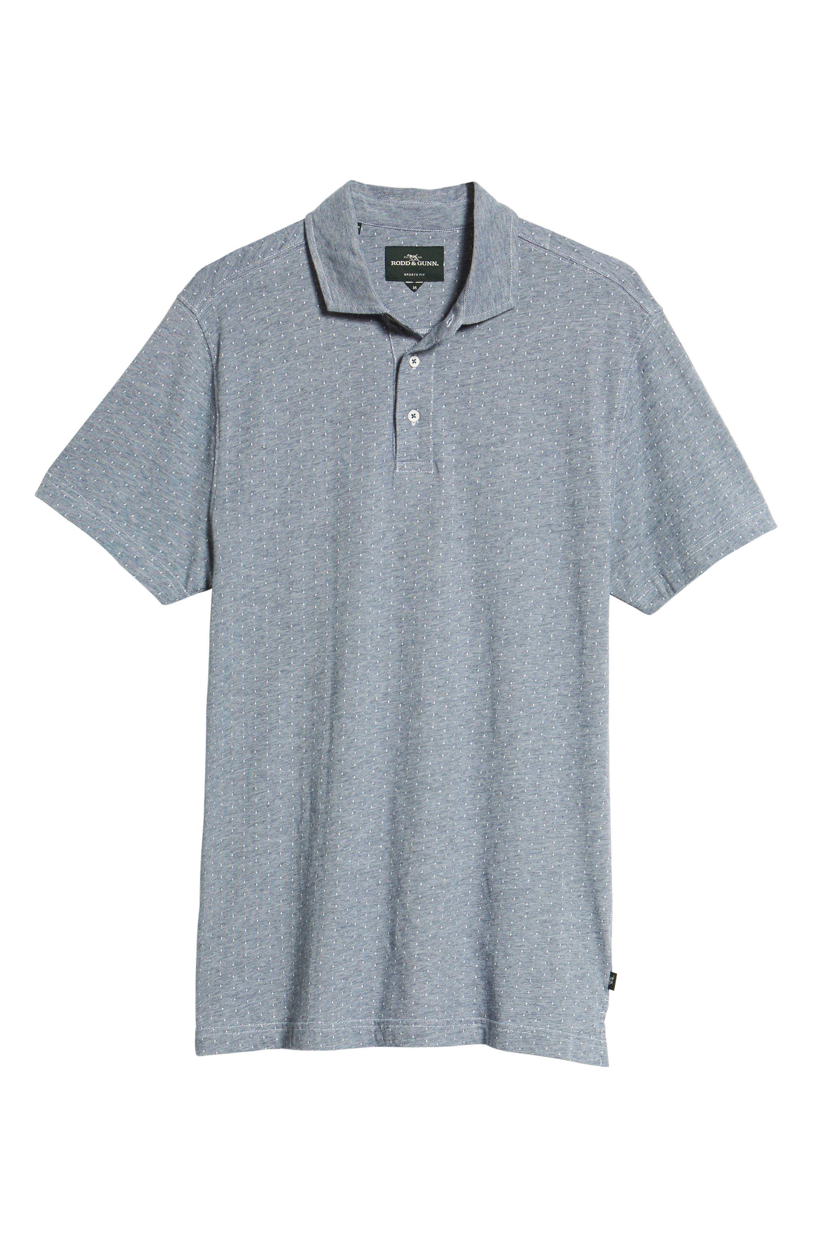 Parkhurst Regular Fit Polo,                             Alternate thumbnail 6, color,                             Navy