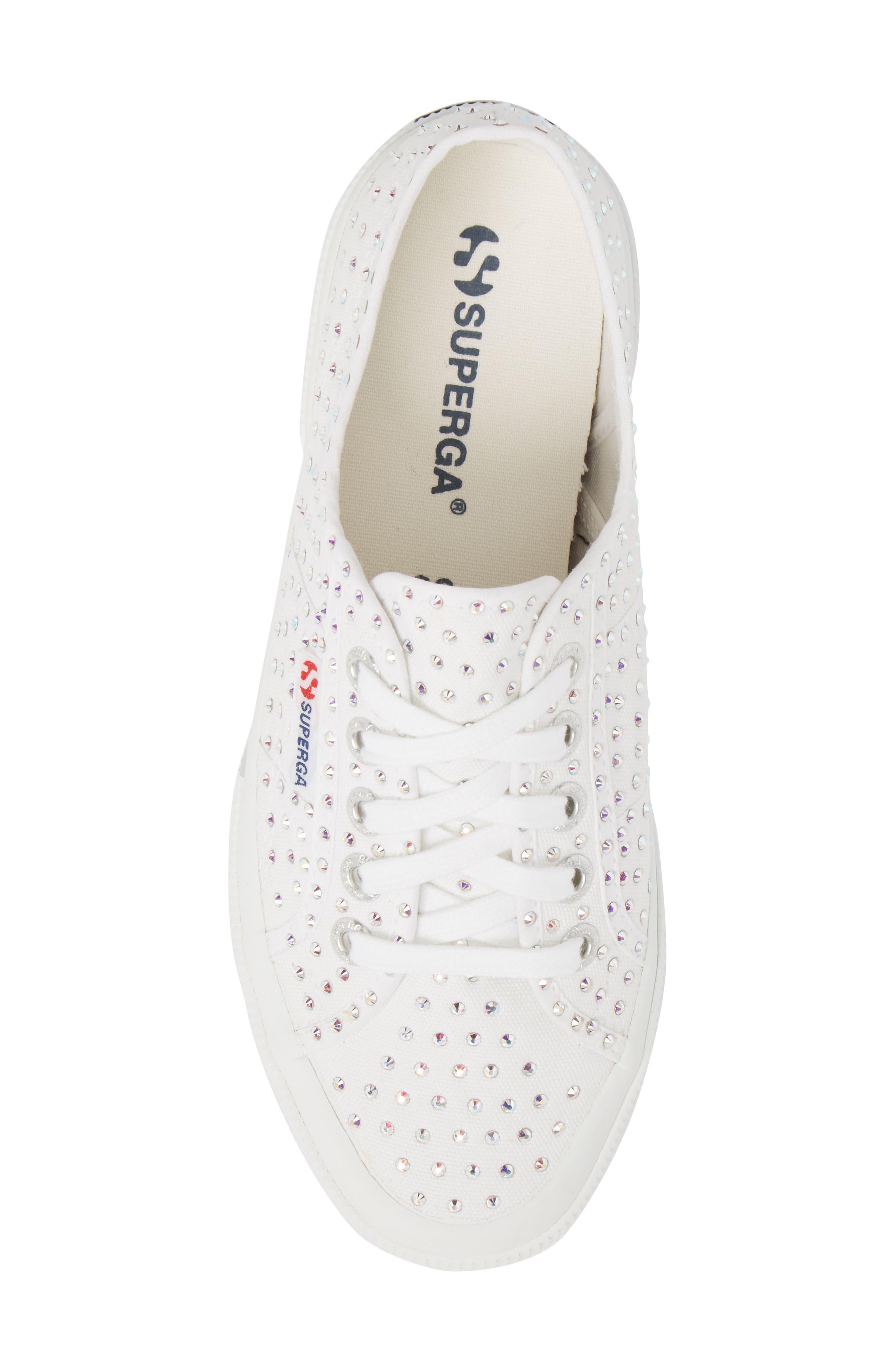 2750 Crystal Sneaker,                             Alternate thumbnail 5, color,                             White Multi