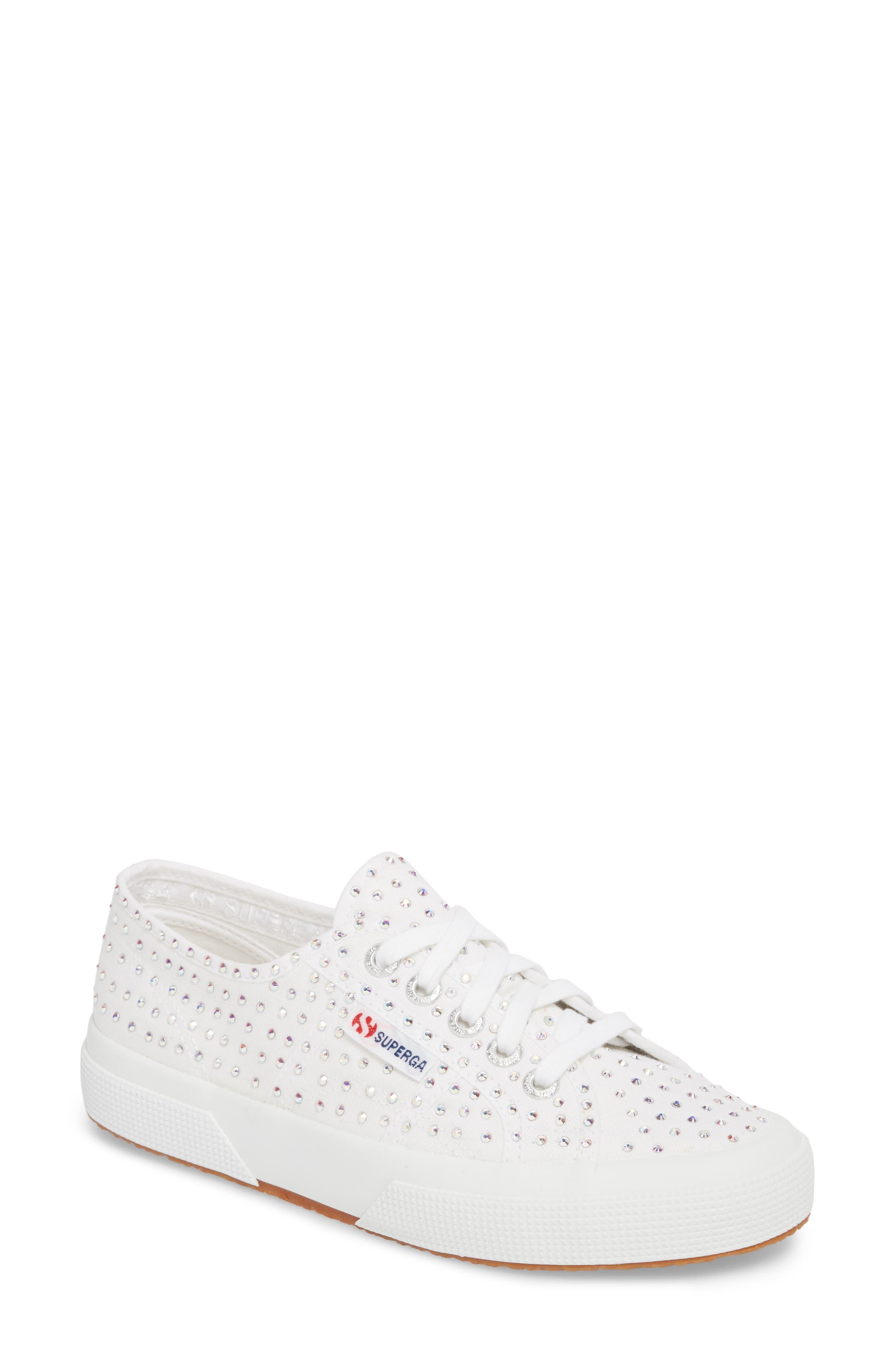 2750 Crystal Sneaker,                         Main,                         color, White Multi
