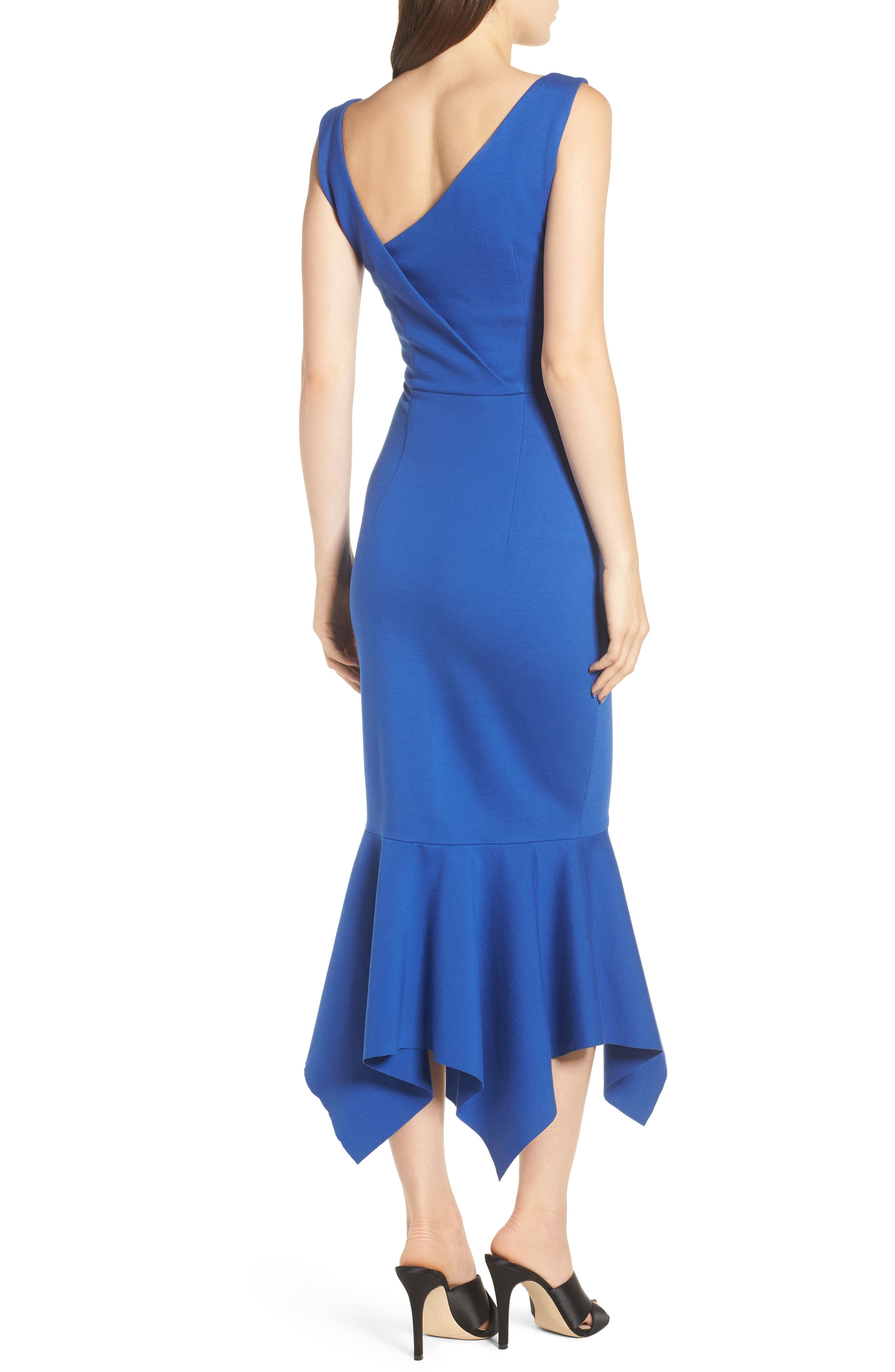 Viola Asymmetrical Dress,                             Alternate thumbnail 2, color,                             Cobalt