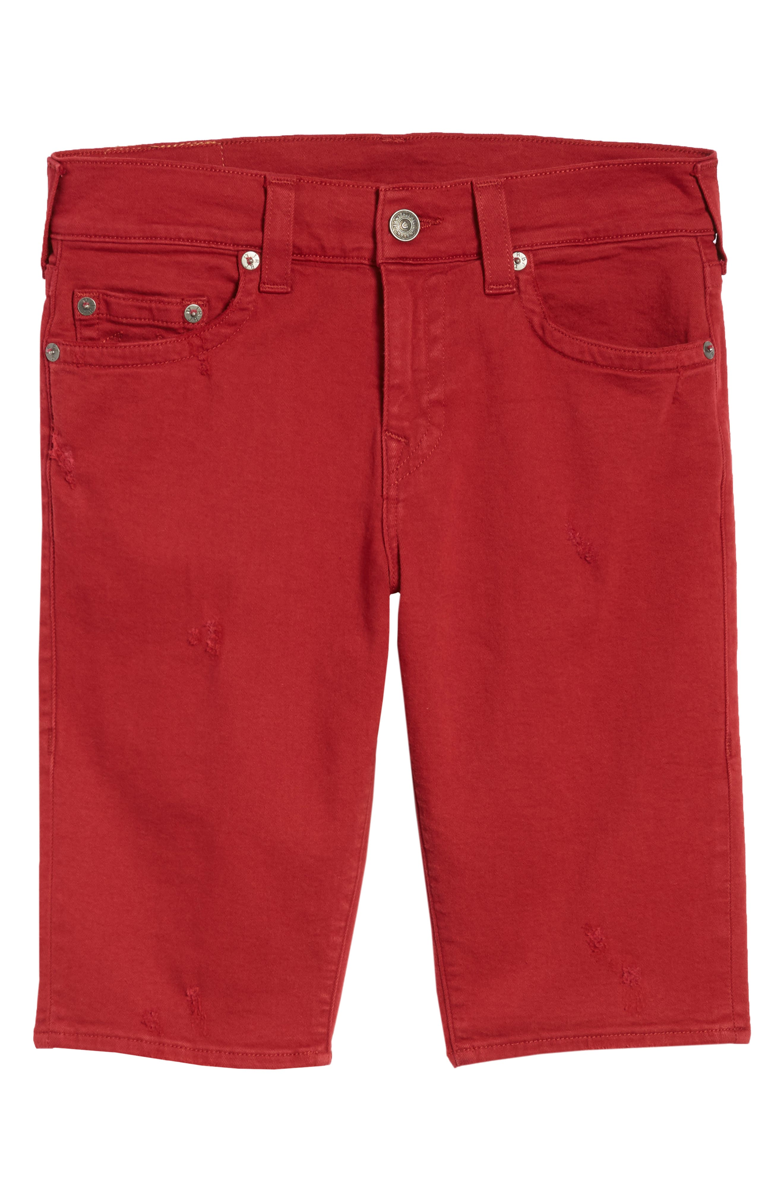 Ricky Relaxed Fit Shorts,                             Alternate thumbnail 6, color,                             Firecracker Red
