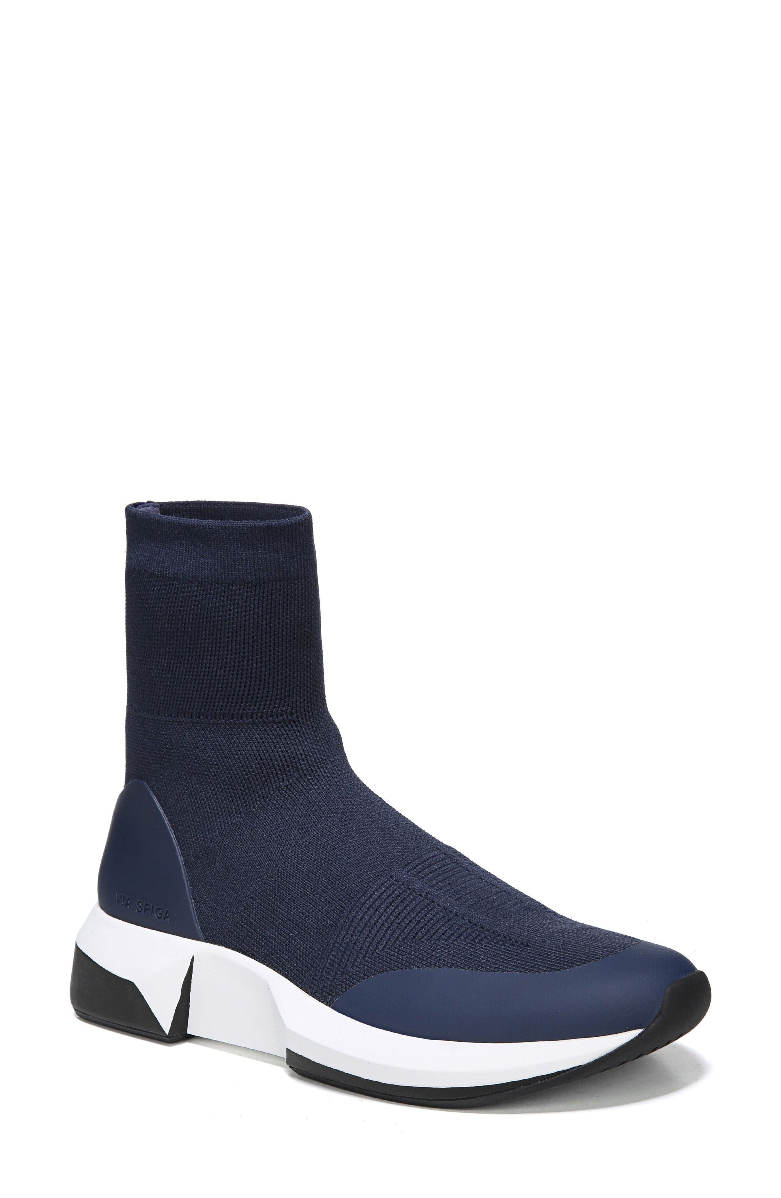 Verion High Top Sock Sneaker,                             Main thumbnail 1, color,                             Sapphire Fabric