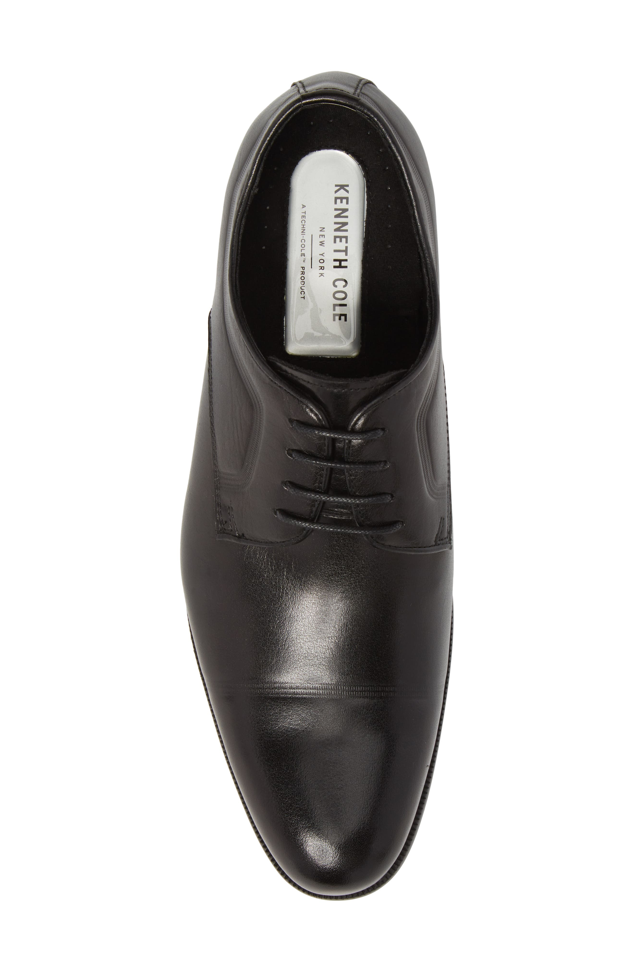 Chief Cap Toe Derby,                             Alternate thumbnail 5, color,                             Black Leather