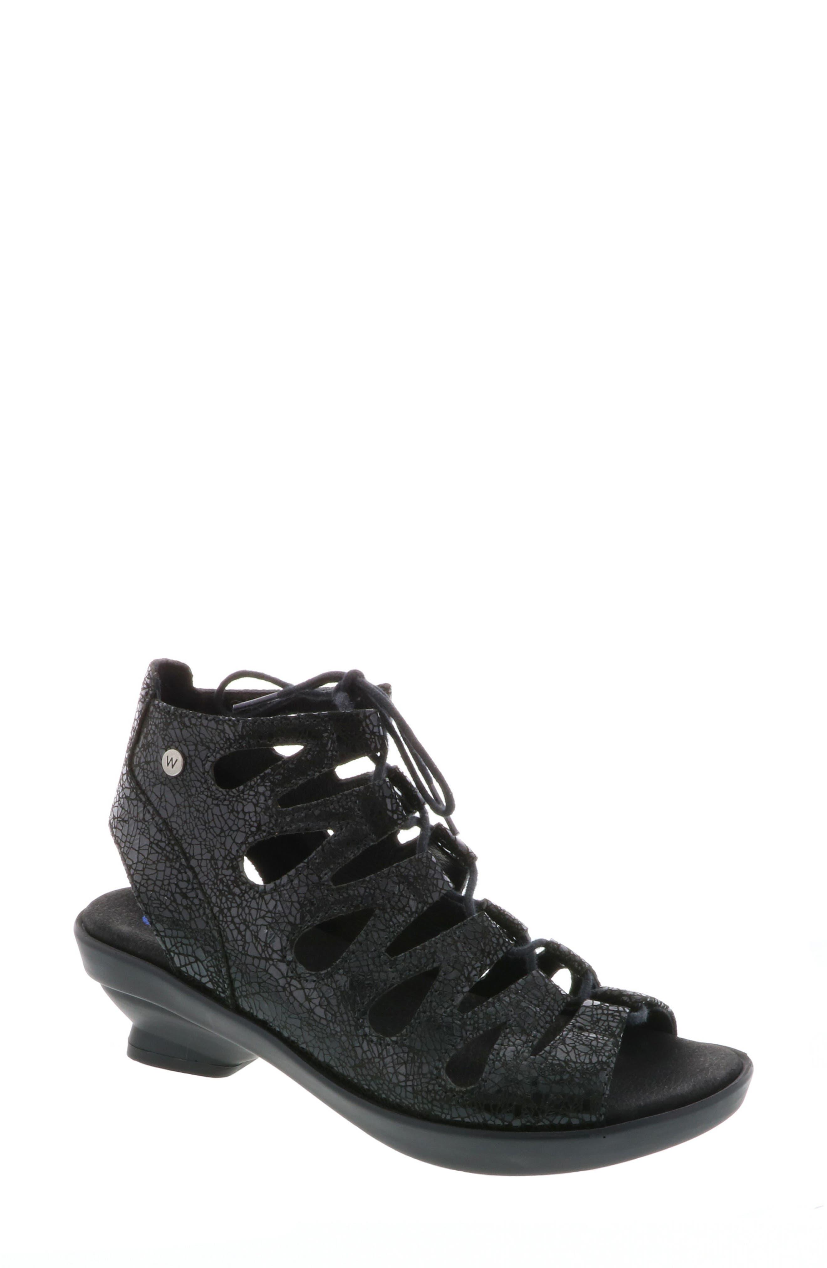 Seminyak Sandal,                         Main,                         color, Black Suede