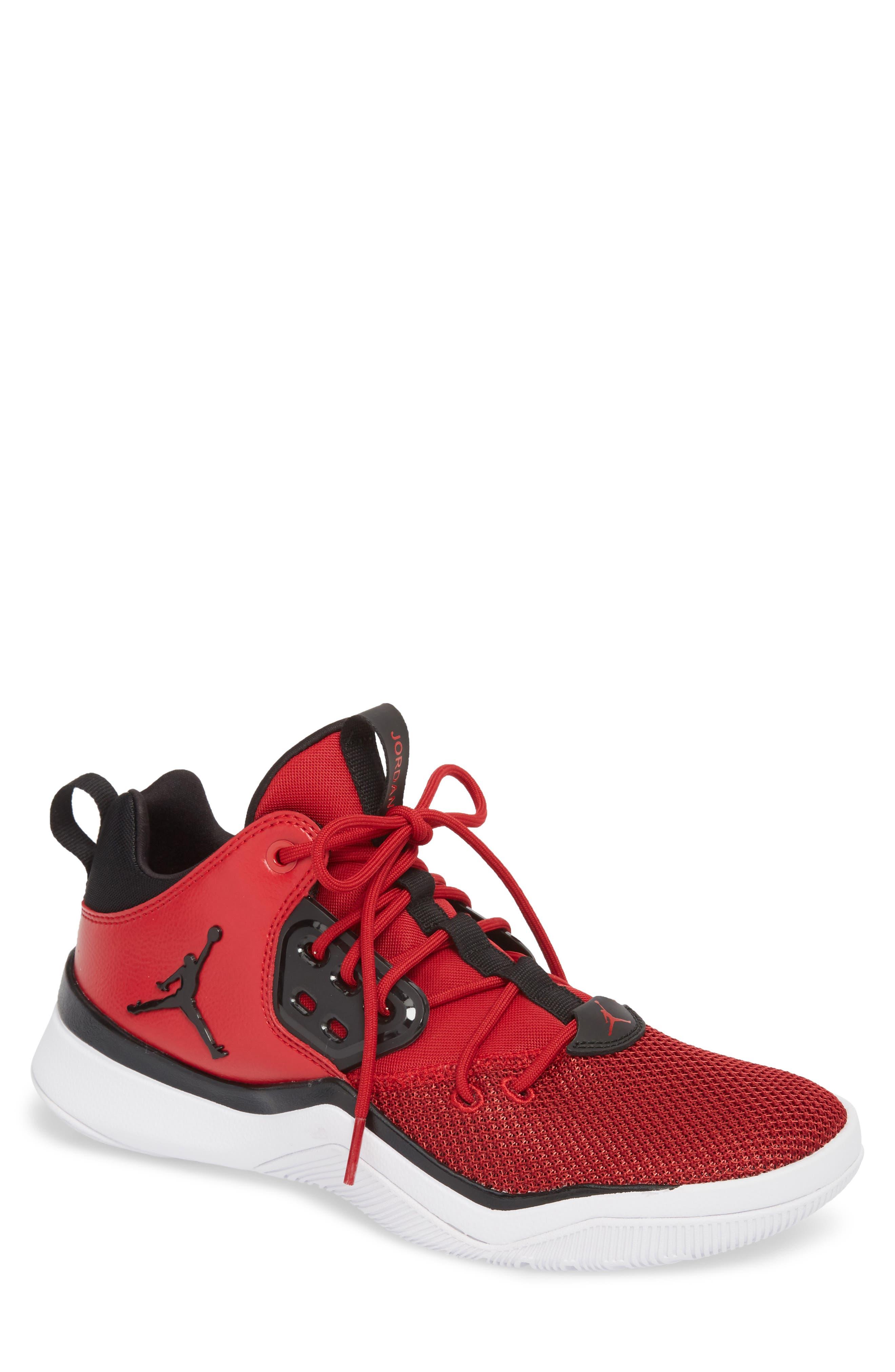 Jordan DNA Sneaker,                             Main thumbnail 1, color,                             Gym Red/ Black/ White