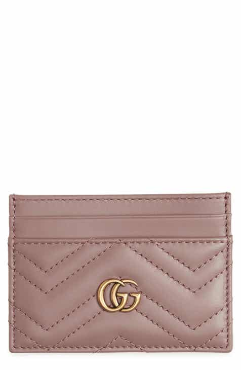 f14522d4811e Gucci GG Marmont Matelassé Leather Card Case